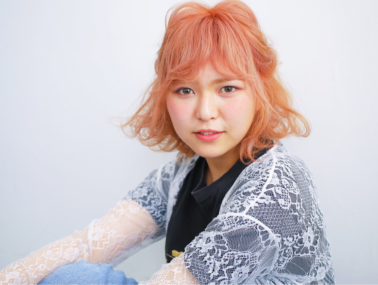 ハイライト 簡単ヘアアレンジ アッシュ ベージュヘアスタイルや髪型の写真・画像