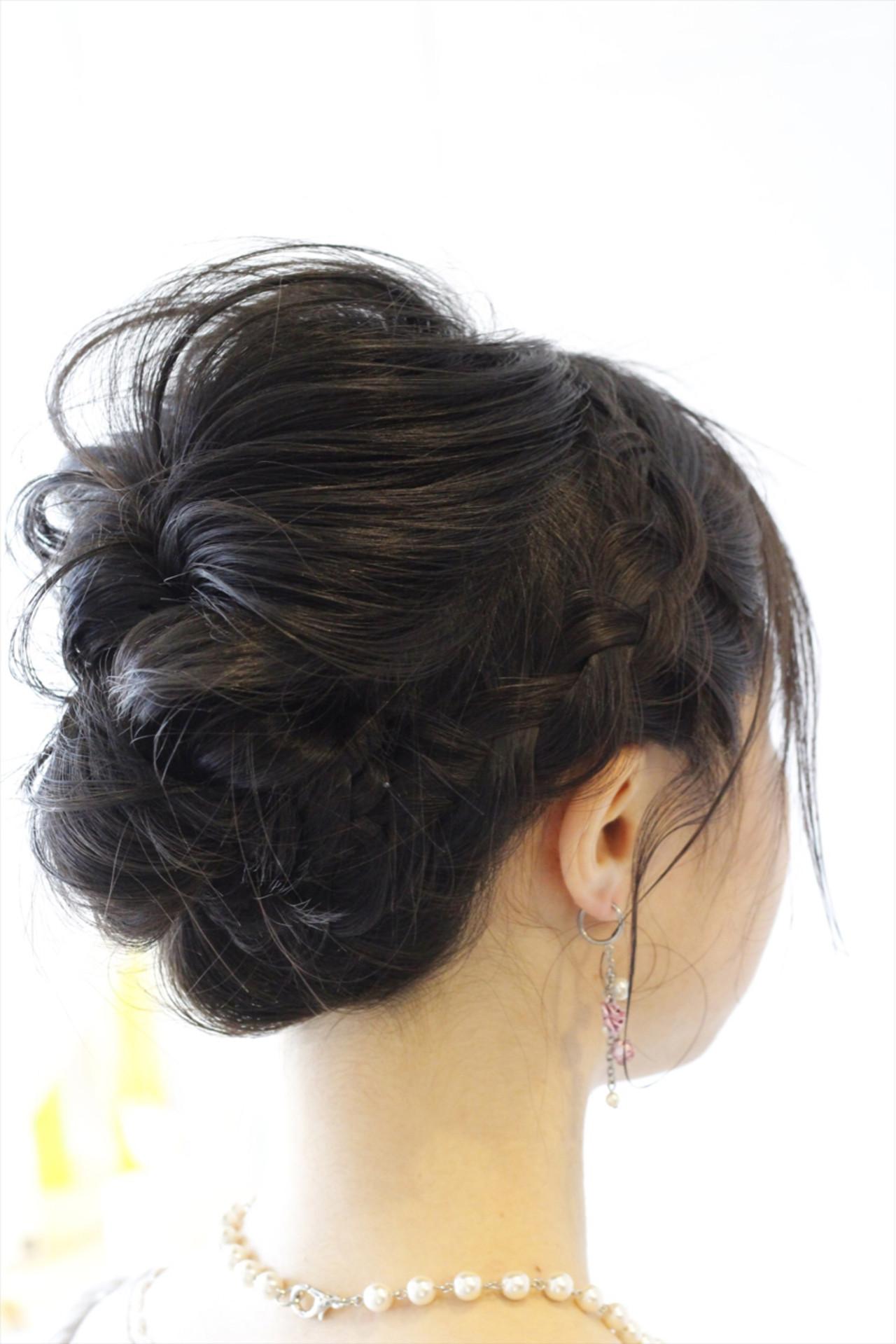 エレガント 上品 ミディアム 黒髪 ヘアスタイルや髪型の写真・画像 | Hatori Masaki / rela hair salon