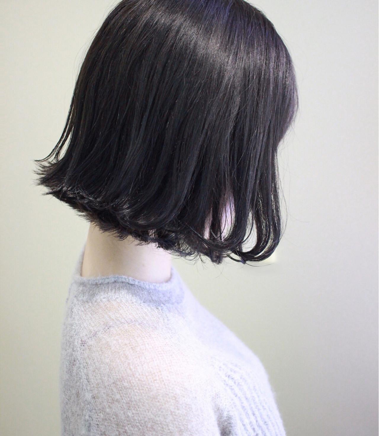 ミディアム 外ハネ ボブ ショートボブ ヘアスタイルや髪型の写真・画像 | 西川 諒 / OSHARE DOROBO seed