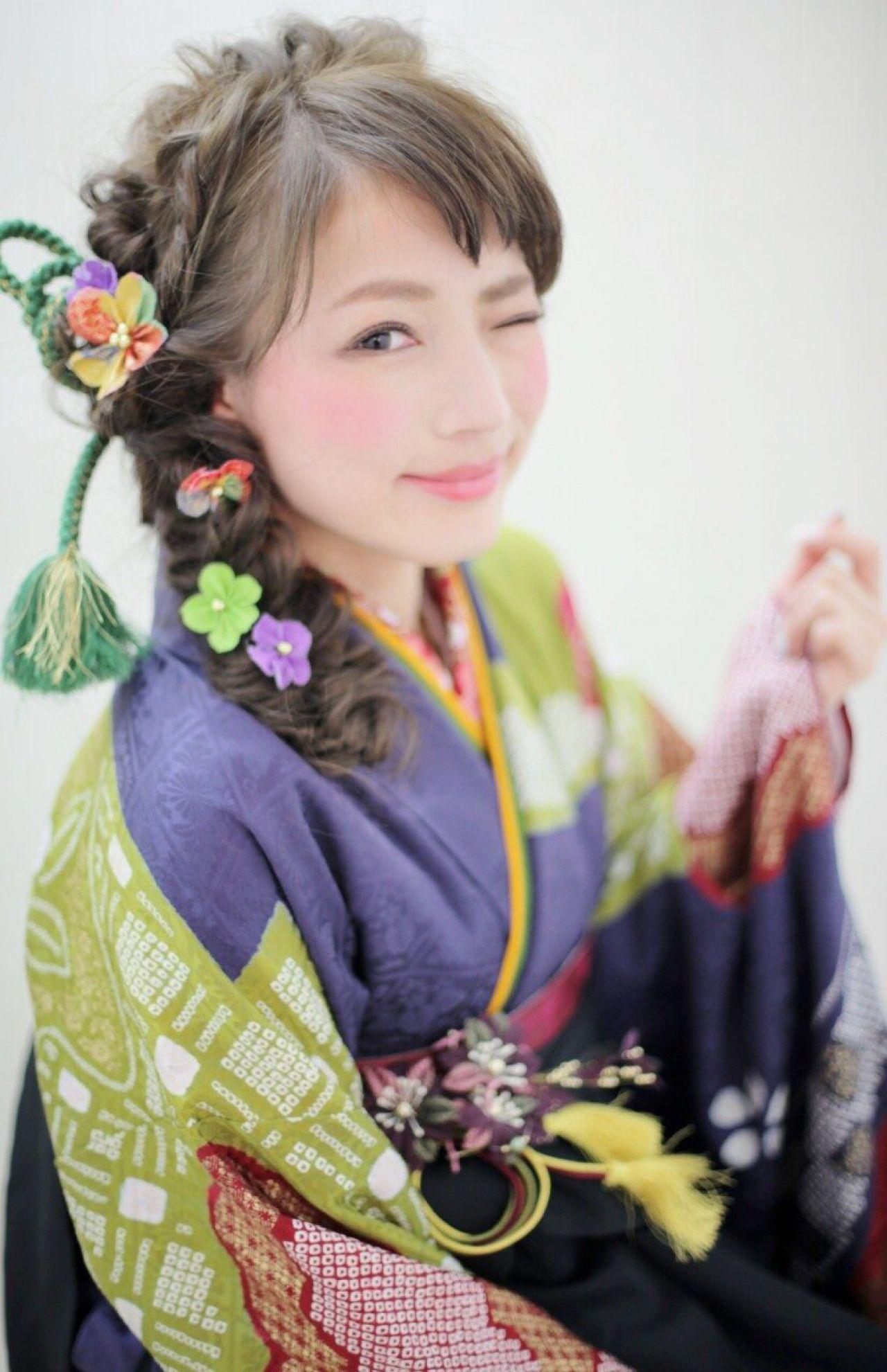 ヘアアレンジ 編み込み コンサバ 謝恩会 ヘアスタイルや髪型の写真・画像   長江 里穂子 /