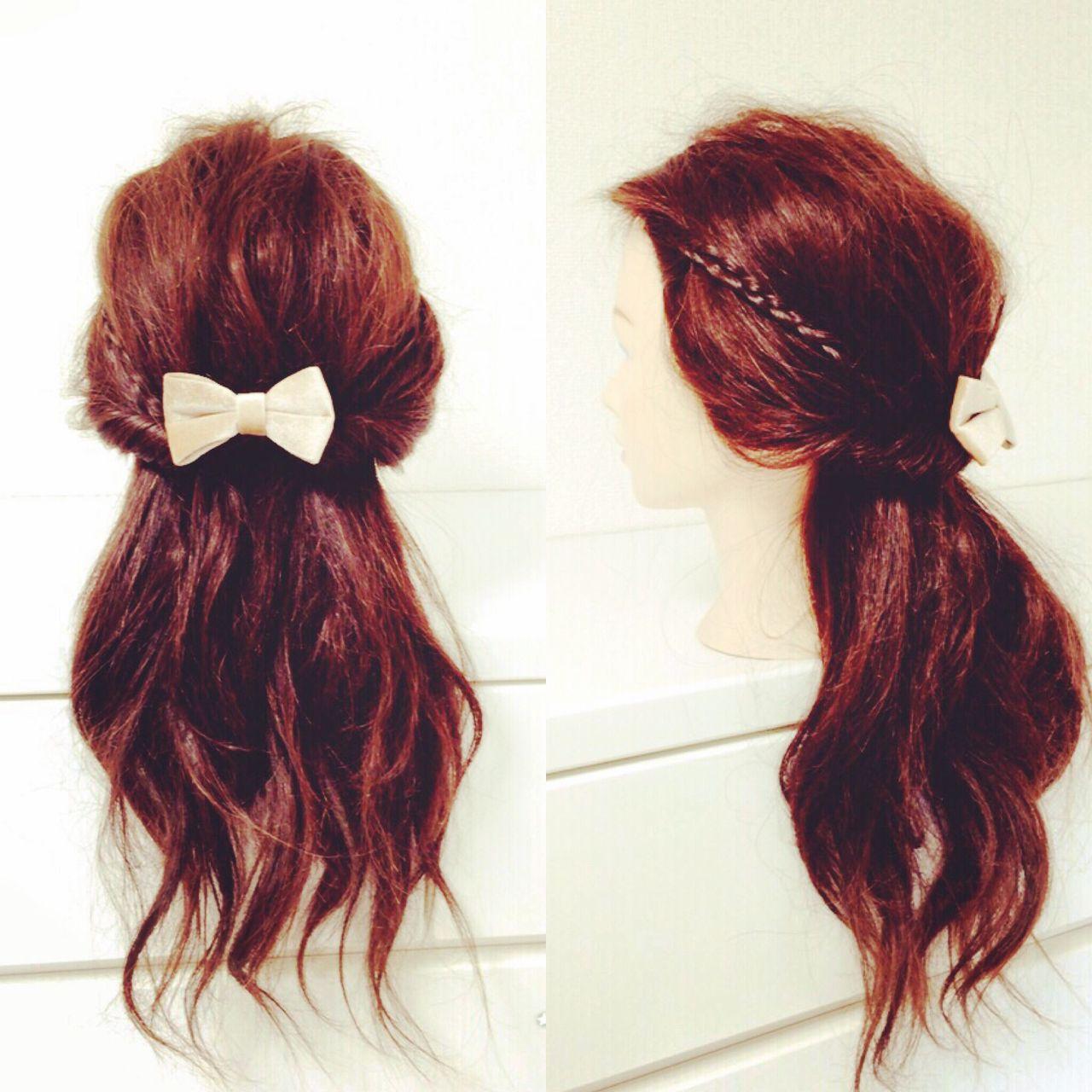 ヘアアレンジ 三つ編み 簡単ヘアアレンジ ショートヘアスタイルや髪型の写真・画像