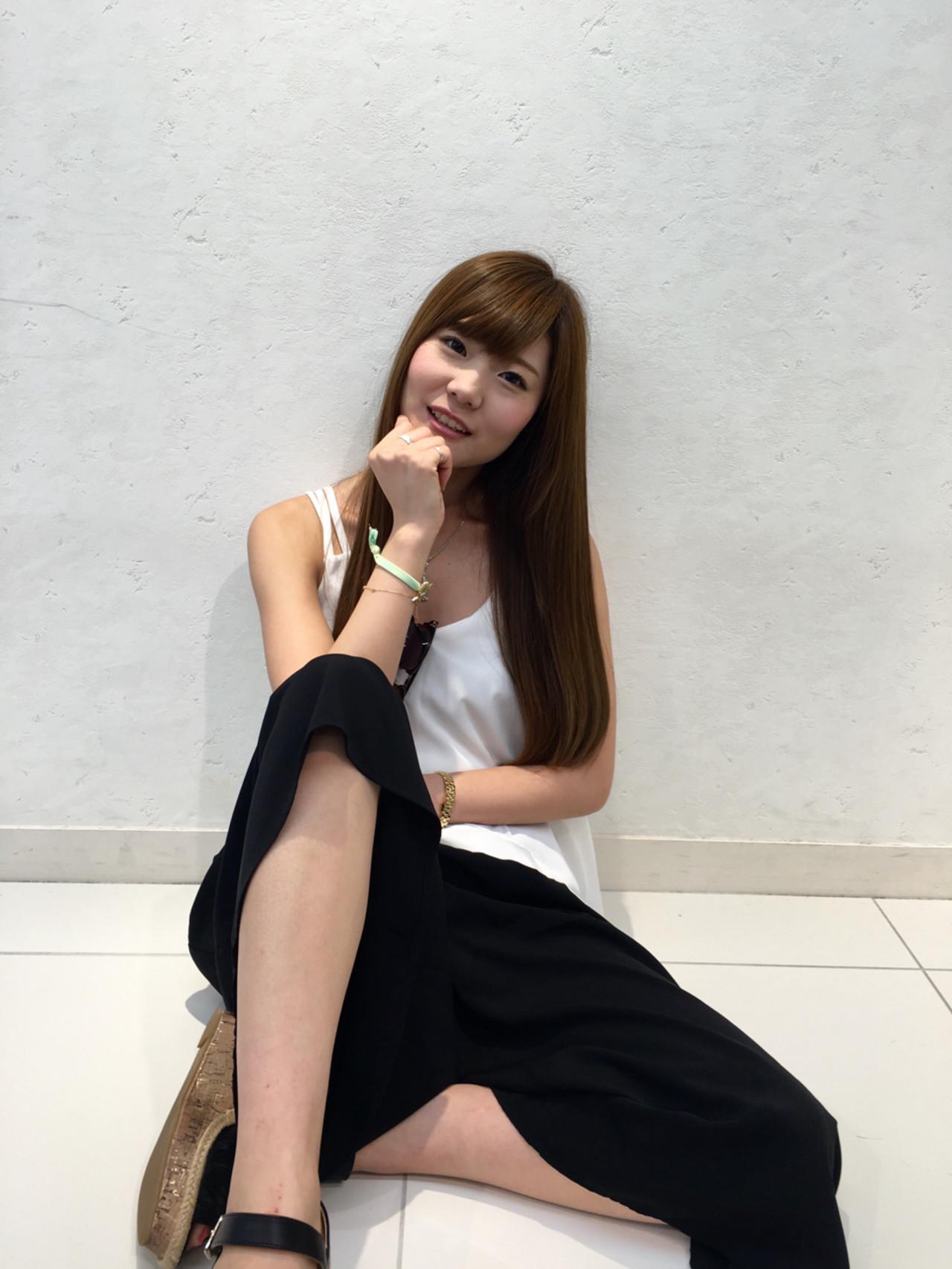 ハイライト ロング 外国人風 フェミニン ヘアスタイルや髪型の写真・画像 | 汐見悠佑 / Lia by KENJE