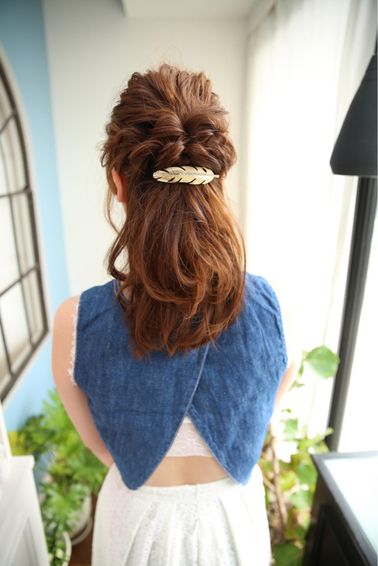 簡単ヘアアレンジ ヘアアレンジ 大人かわいい 大人女子 ヘアスタイルや髪型の写真・画像   山口 えりか / AGREE calling