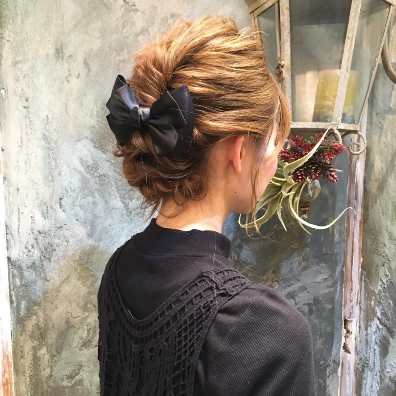 ヘアアレンジ ショート 簡単ヘアアレンジ ハーフアップ ヘアスタイルや髪型の写真・画像 | 西川 賢一 blast / blast