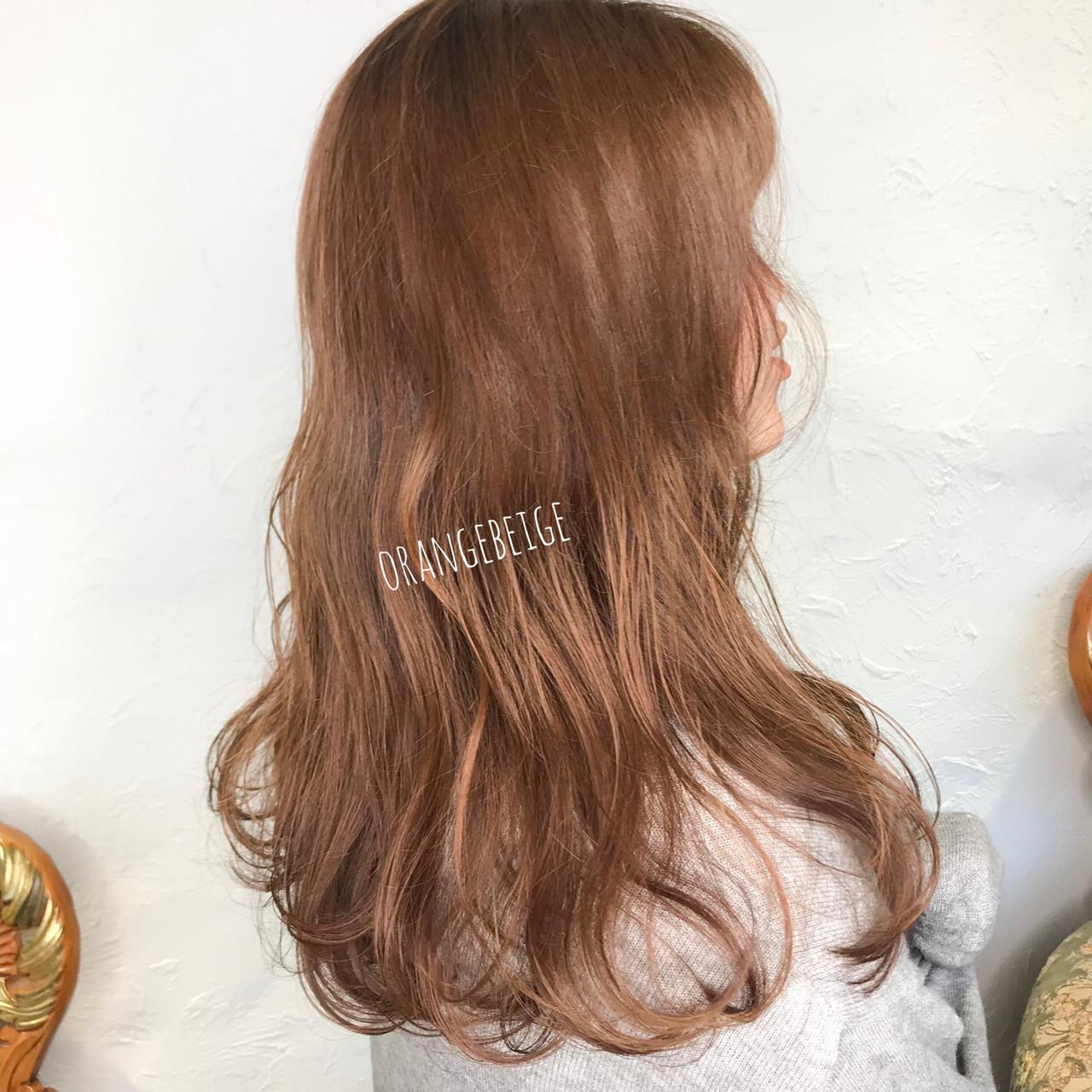 ゆるふわ シナモンベージュ ゆるふわパーマ オレンジベージュヘアスタイルや髪型の写真・画像