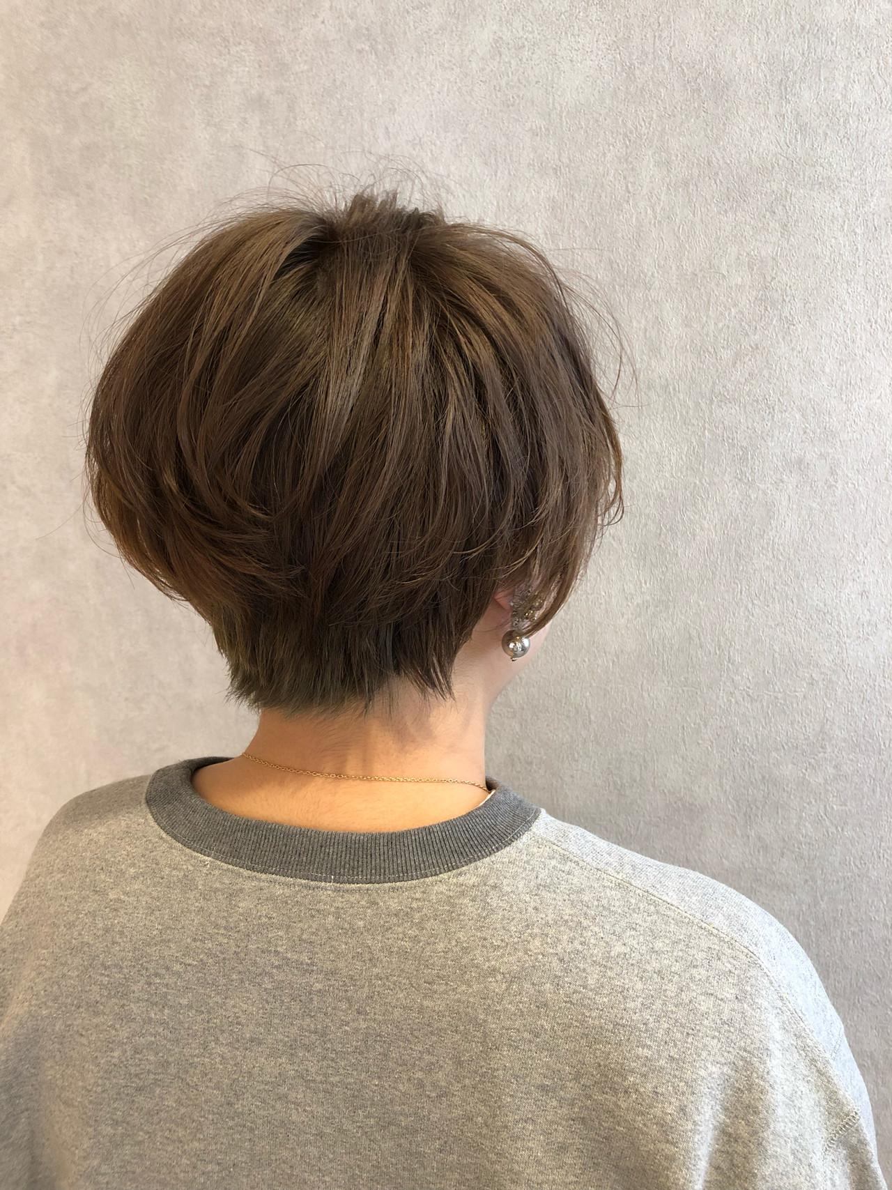 ショート ショートボブ ナチュラル カジュアル ヘアスタイルや髪型の写真・画像 | enn 増田 大将 / HAIR&MAKE  enn