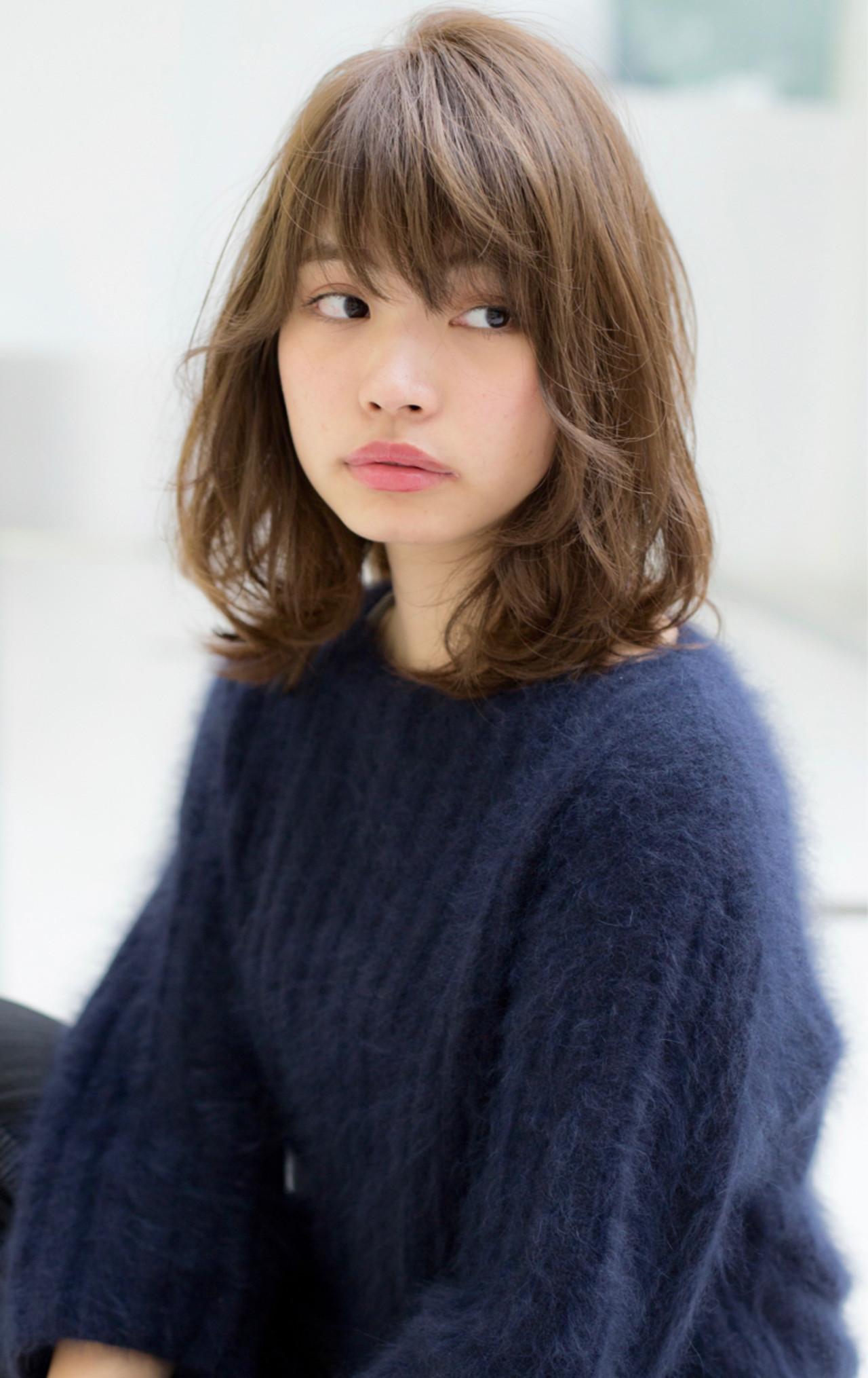 ミディアム ボブ パーマ ナチュラル ヘアスタイルや髪型の写真・画像   宮本 誉志成 / Euphoria SHIBUYA GRANDE