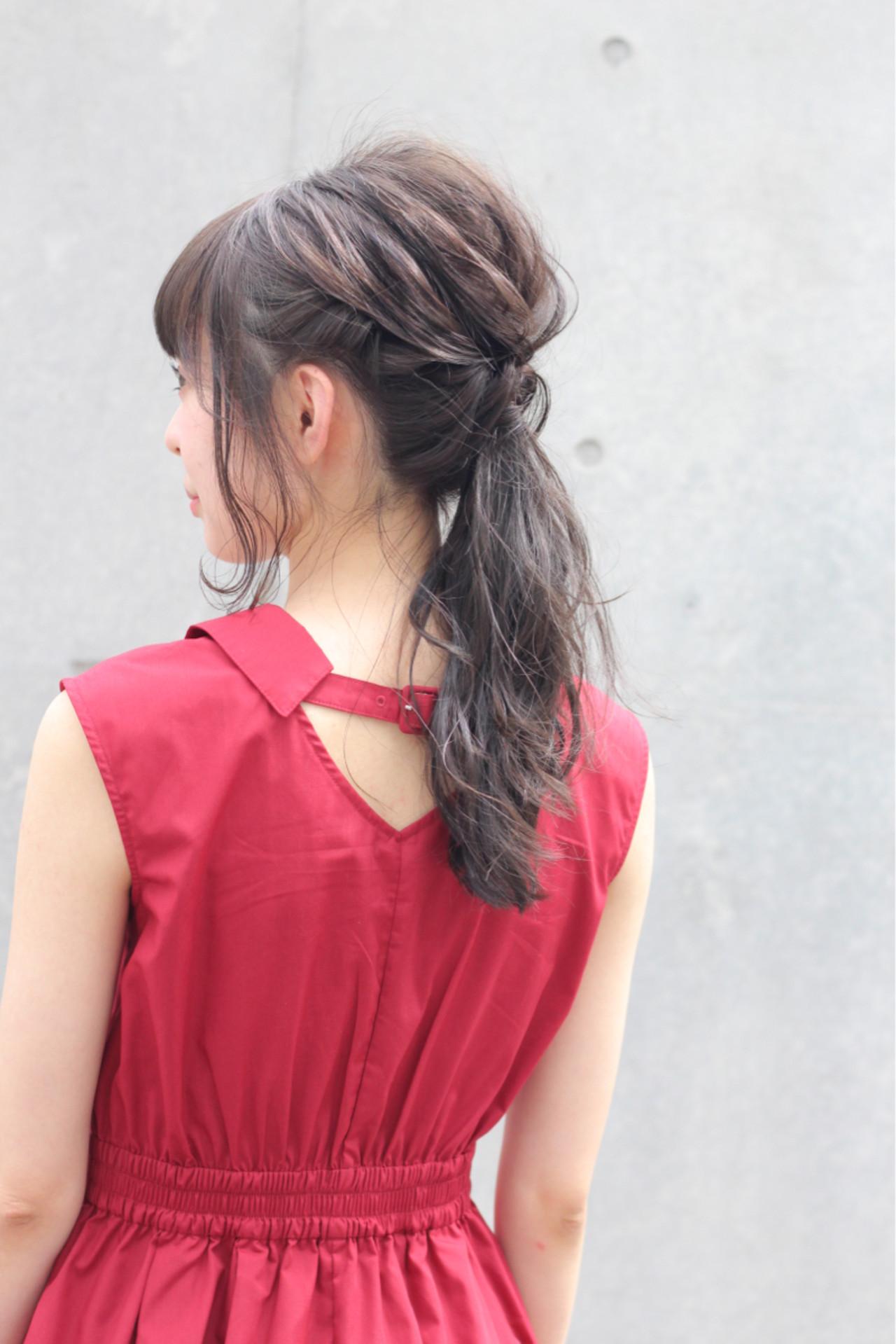 リラックス 簡単ヘアアレンジ 透明感 秋 ヘアスタイルや髪型の写真・画像 | Wataru Maeda / cache cache