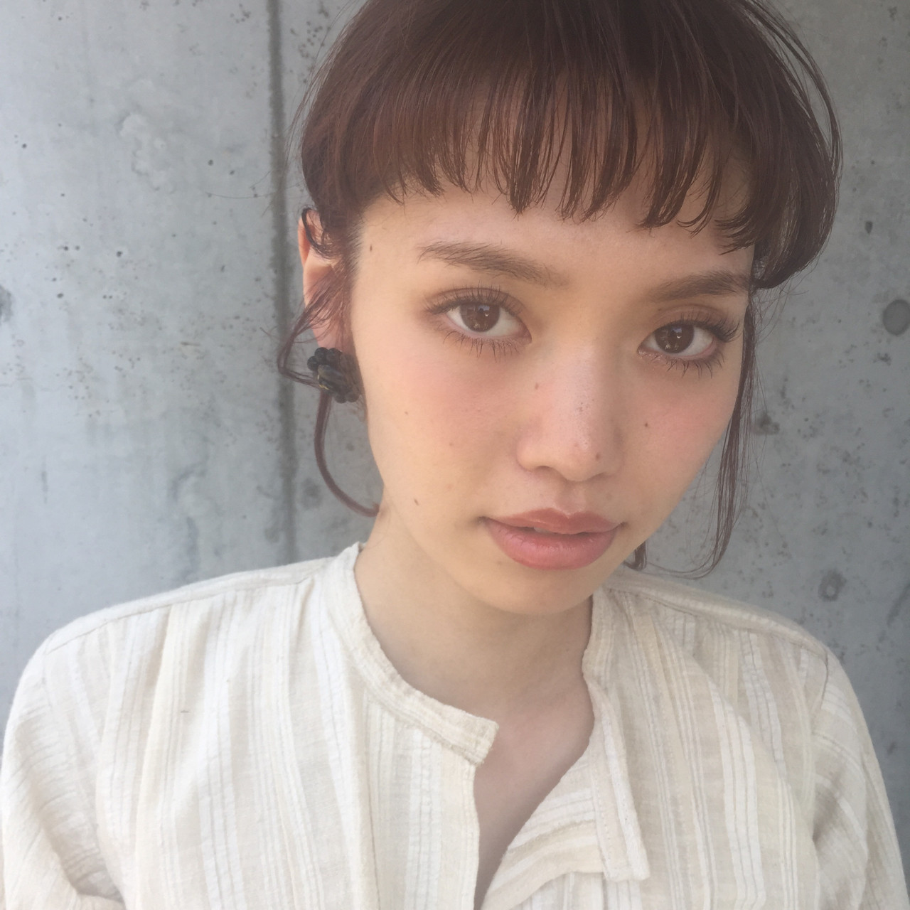 インナーカラー ヘアアレンジ 簡単ヘアアレンジ ミディアム ヘアスタイルや髪型の写真・画像 | 小西敬二郎 / Heartim