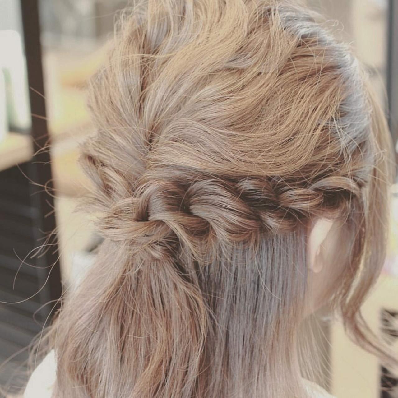 簡単ヘアアレンジ ヘアアレンジ 大人女子 ハーフアップ ヘアスタイルや髪型の写真・画像 | kotono / hair&make earth
