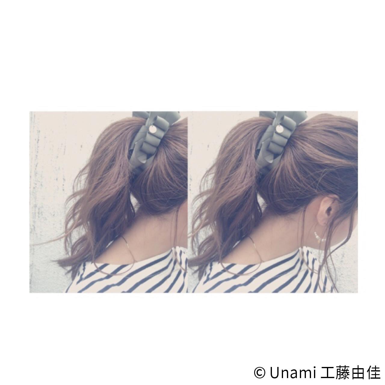 ショート フェミニン ルーズ ミディアム ヘアスタイルや髪型の写真・画像 | Unami 工藤由佳 / Unami omotesando