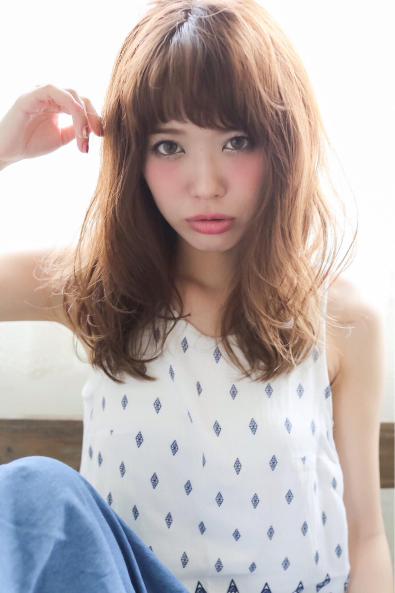 ゆるふわ 外国人風 ストリート セミロング ヘアスタイルや髪型の写真・画像   黒田 卓磨/musashi / souvenir(スーベニール)