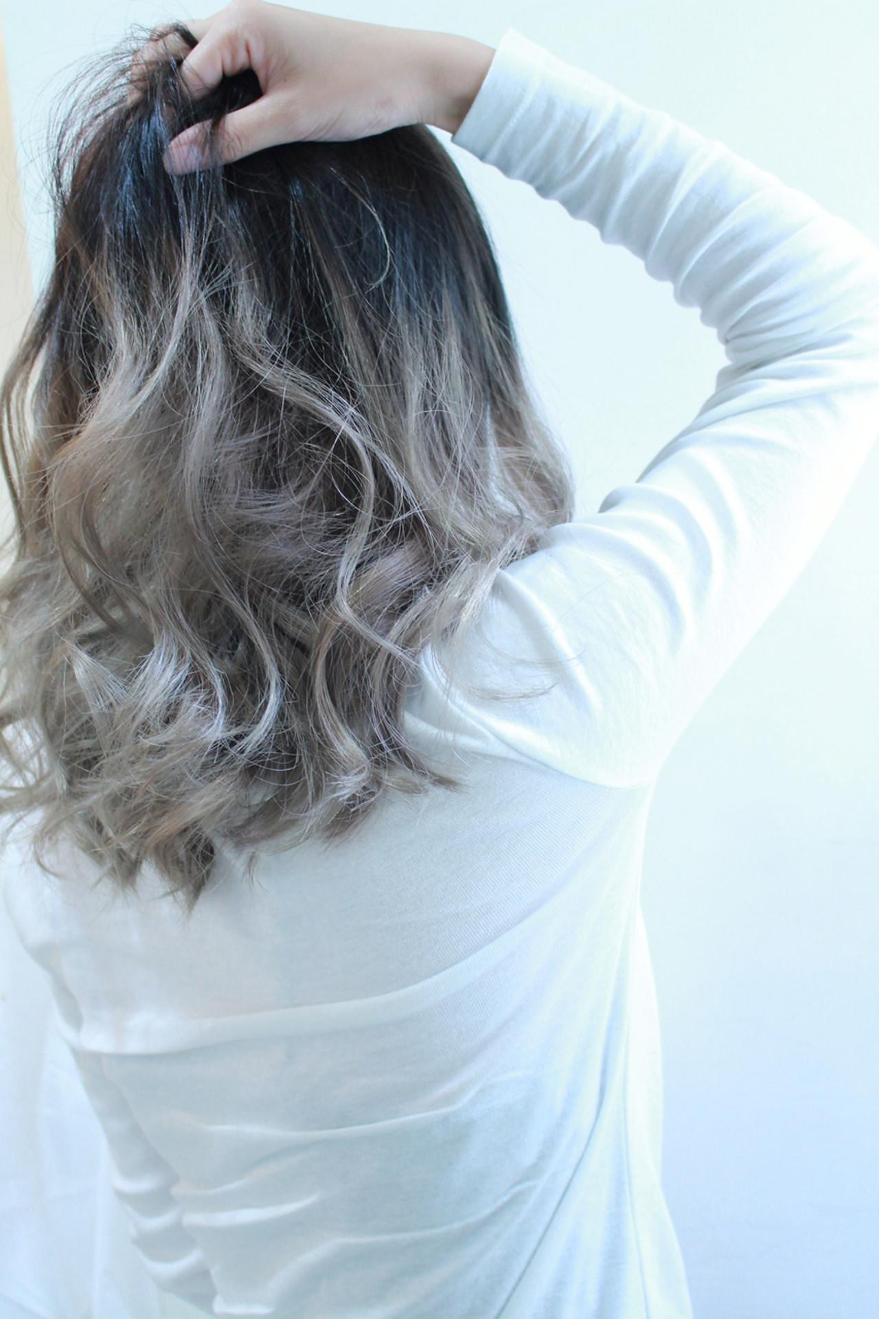 透明感 アッシュ ダブルカラー モード ヘアスタイルや髪型の写真・画像 | Director AKI☆ / hairTRUTH