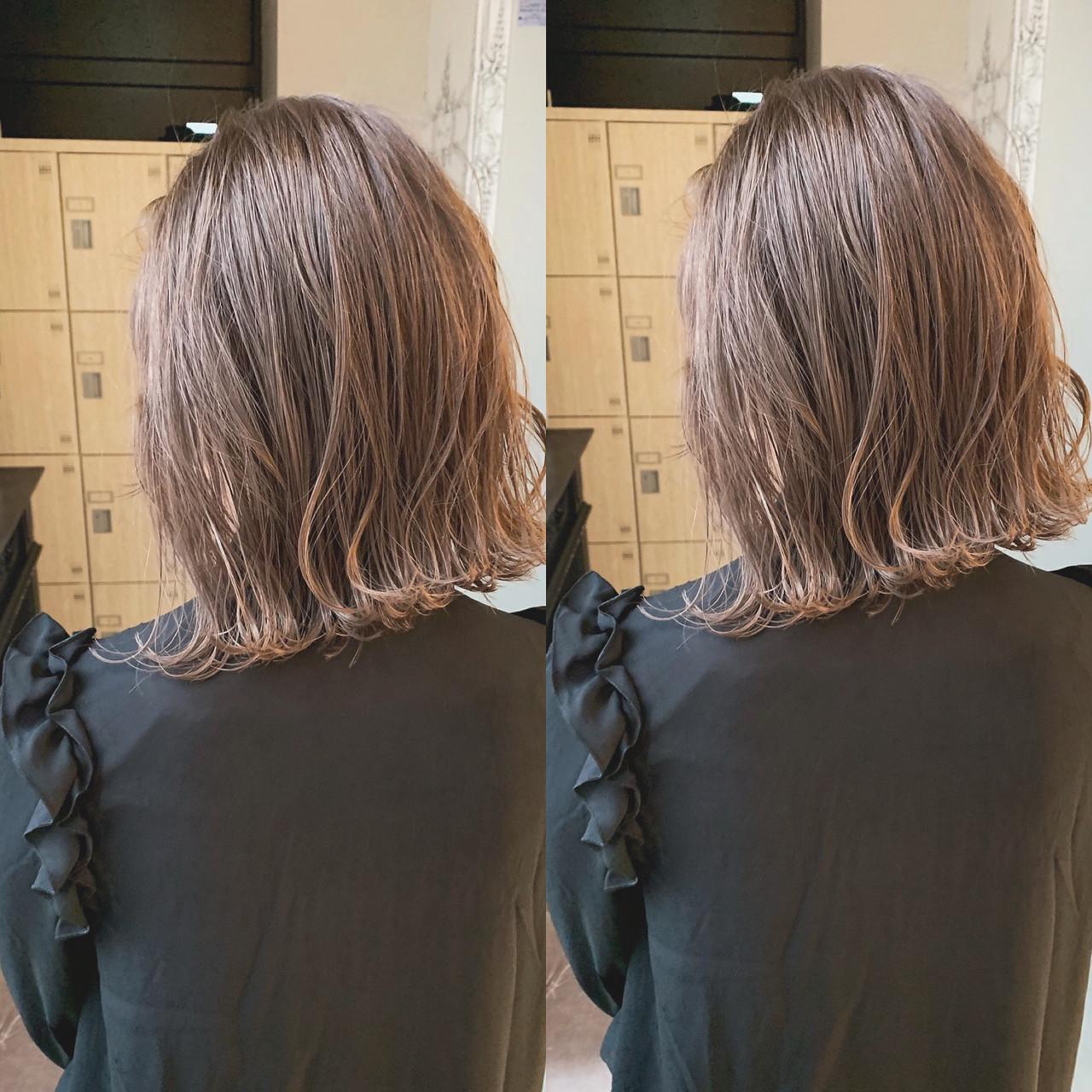 ヘアカラー アッシュベージュ ミルクティーベージュ ナチュラル ヘアスタイルや髪型の写真・画像   川原拓也 / GIEN ROUGE