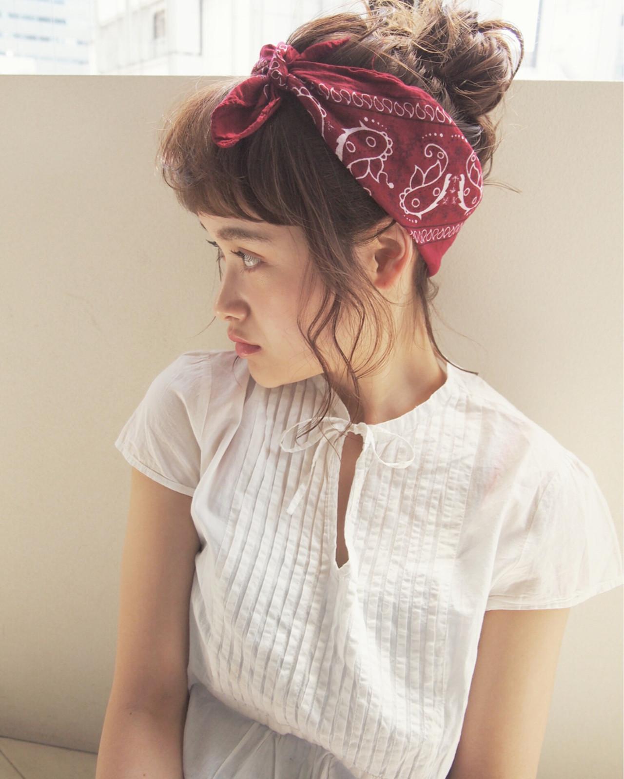 ミディアム 簡単ヘアアレンジ 大人かわいい 夏 ヘアスタイルや髪型の写真・画像 | UEKI/nanuk / nanuk二子玉川