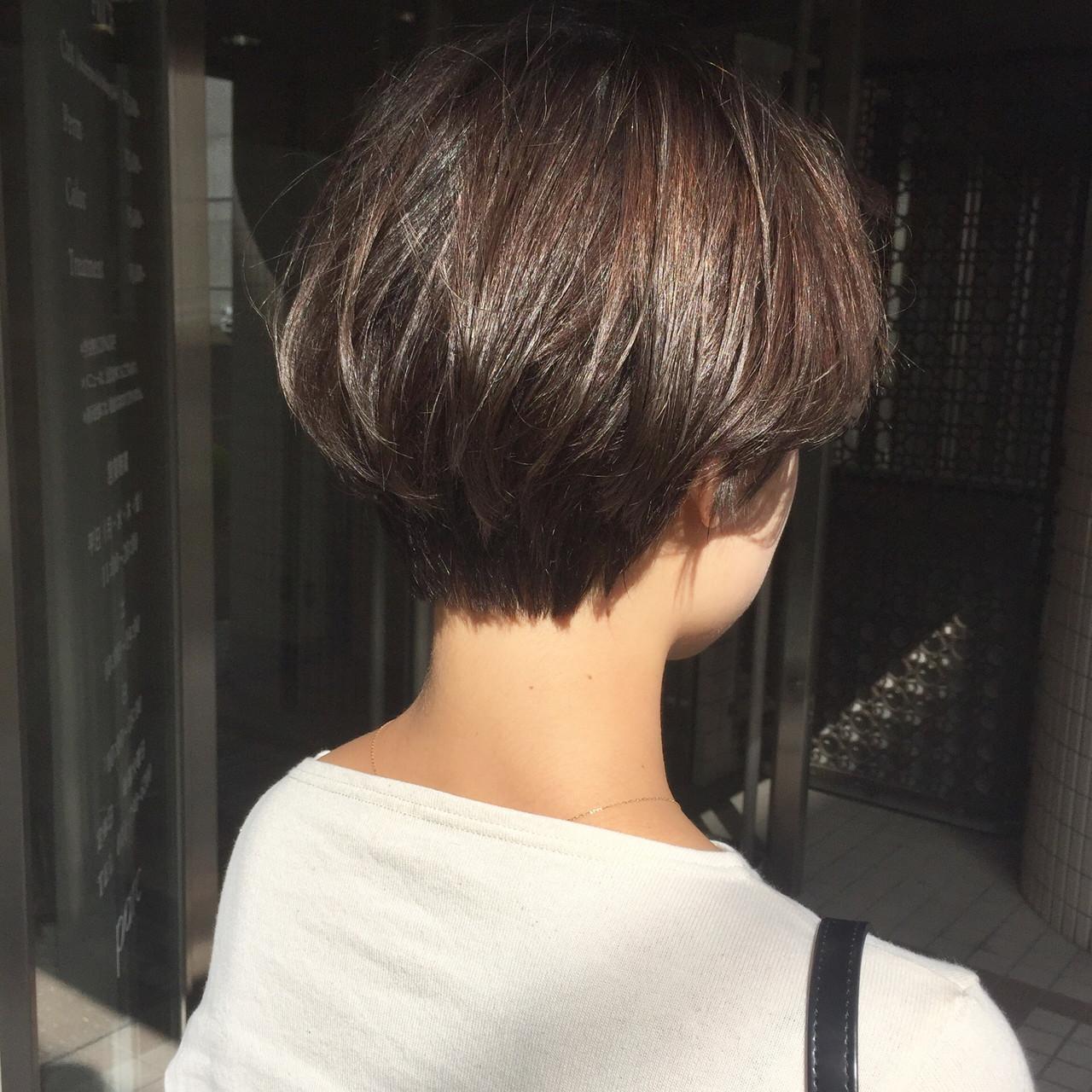 ナチュラル ショートボブ 大人ショート ショートヘア ヘアスタイルや髪型の写真・画像   【ショート&ショートボブはお任せください】淺川聖 / parc sapporo