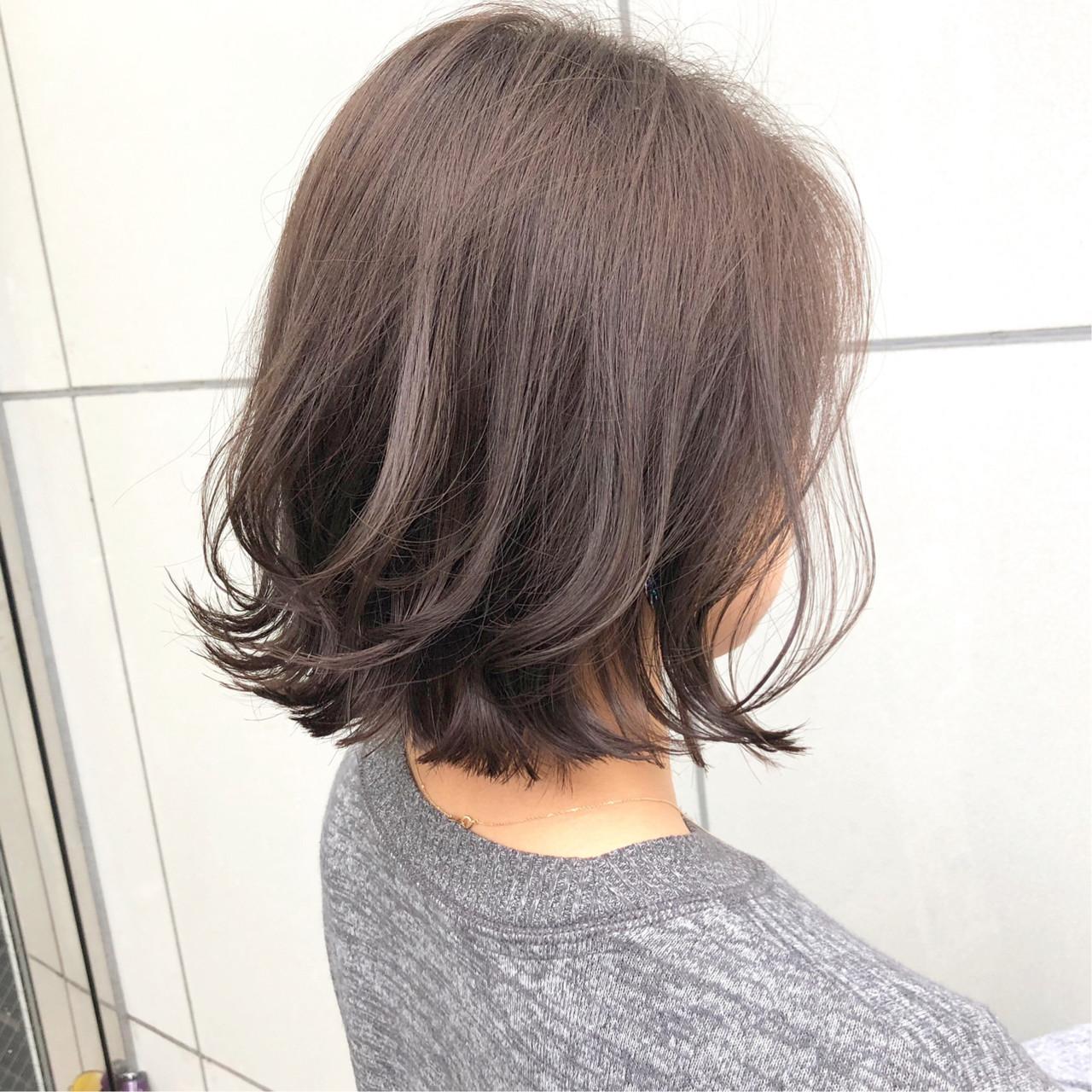 ボブ ボブヘアー パーマ ナチュラルヘアスタイルや髪型の写真・画像