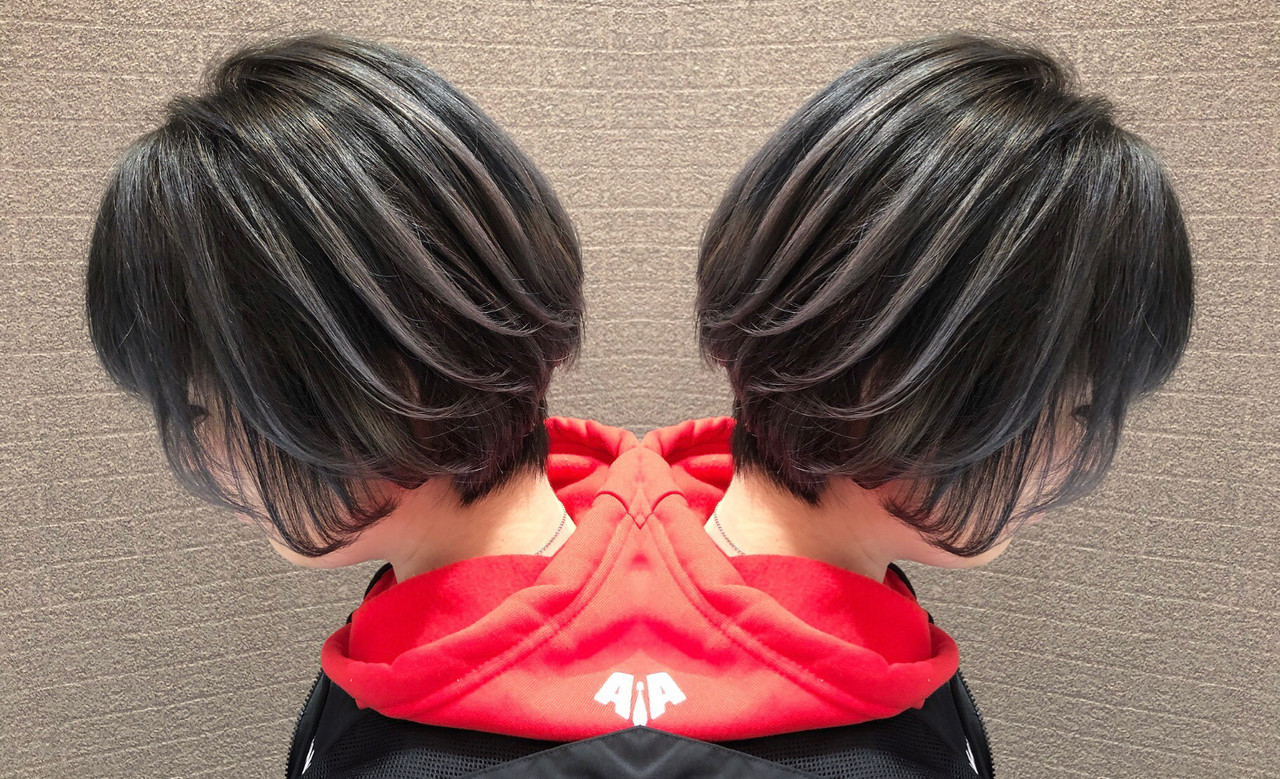 ショート 外国人風 3Dハイライト 外国人風カラー ヘアスタイルや髪型の写真・画像 | アンドウ ユウ / Agu hair edge