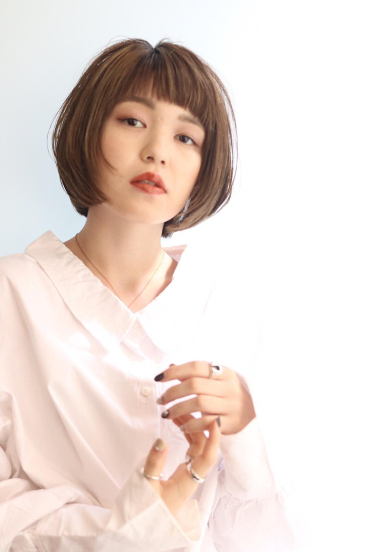 女子力 ナチュラル ハイライト ショートヘアスタイルや髪型の写真・画像