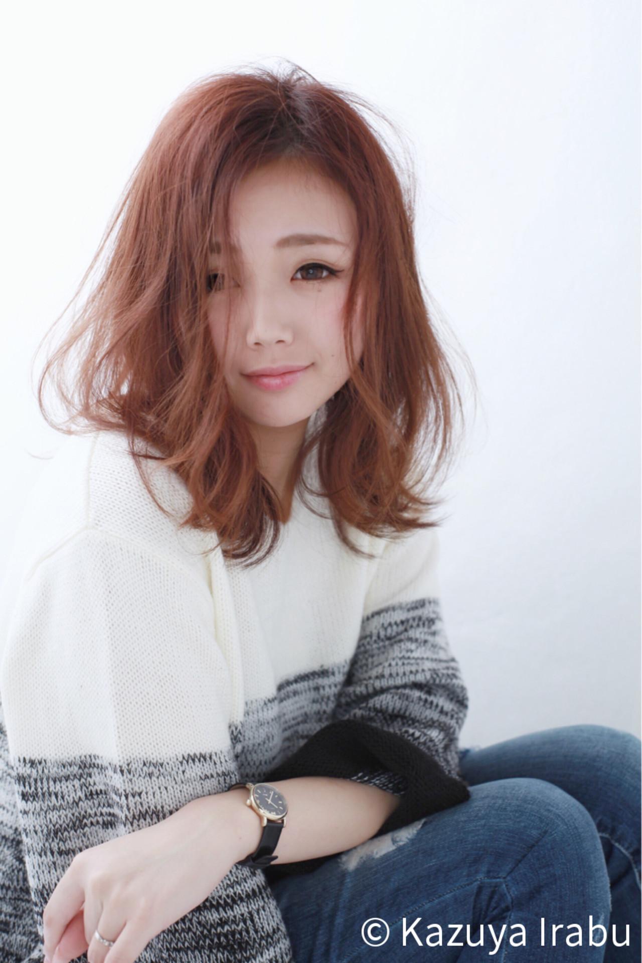 こなれ感 ニュアンス パーマ ゆるふわ ヘアスタイルや髪型の写真・画像 | Kazuya Irabu / アービング