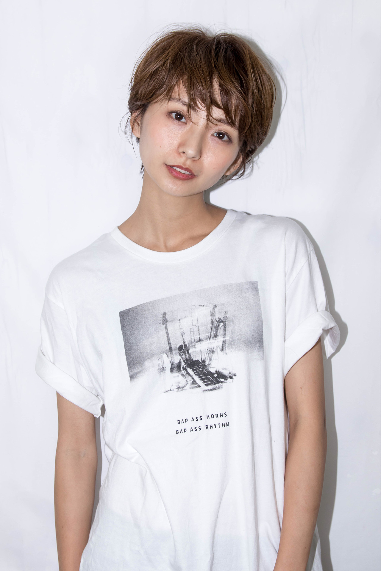 大人カジュアル ショート 小顔ショート ナチュラルヘアスタイルや髪型の写真・画像