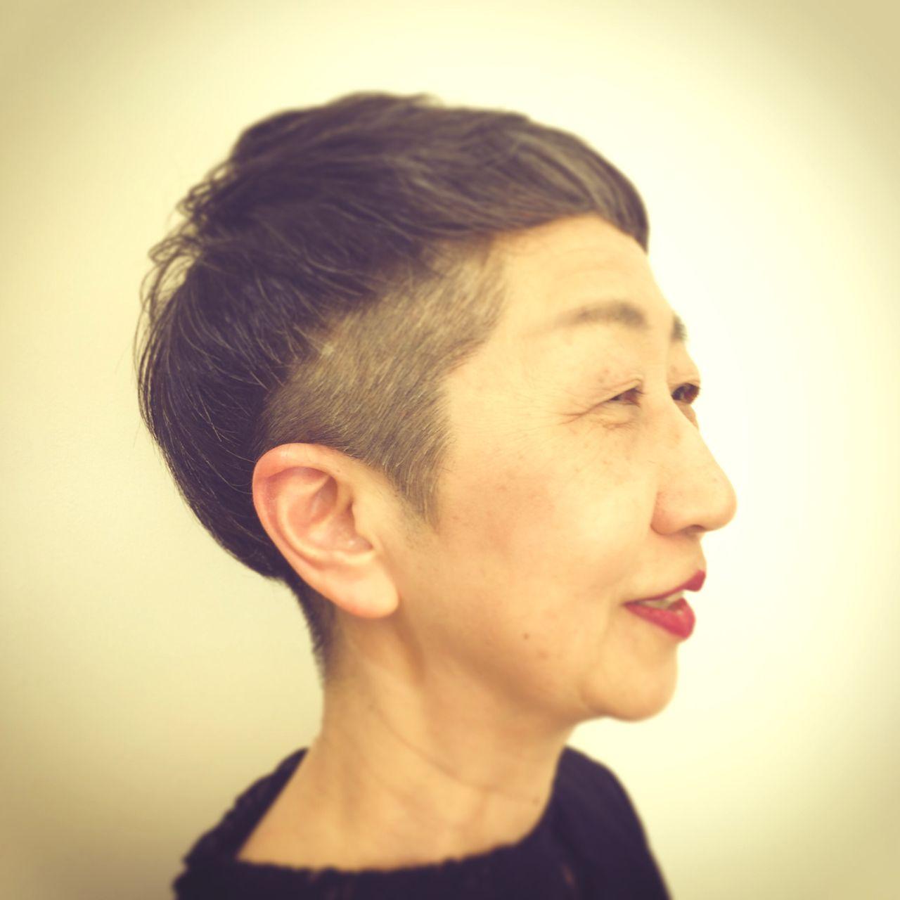 ショート ベリーショートヘアスタイルや髪型の写真・画像
