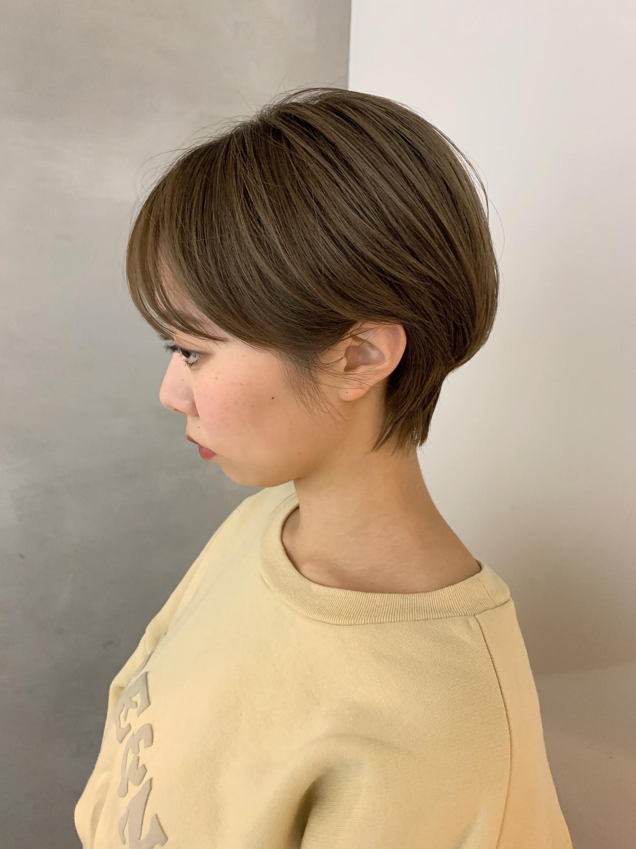 ベリーショート ショートボブ ショート ショートヘアヘアスタイルや髪型の写真・画像