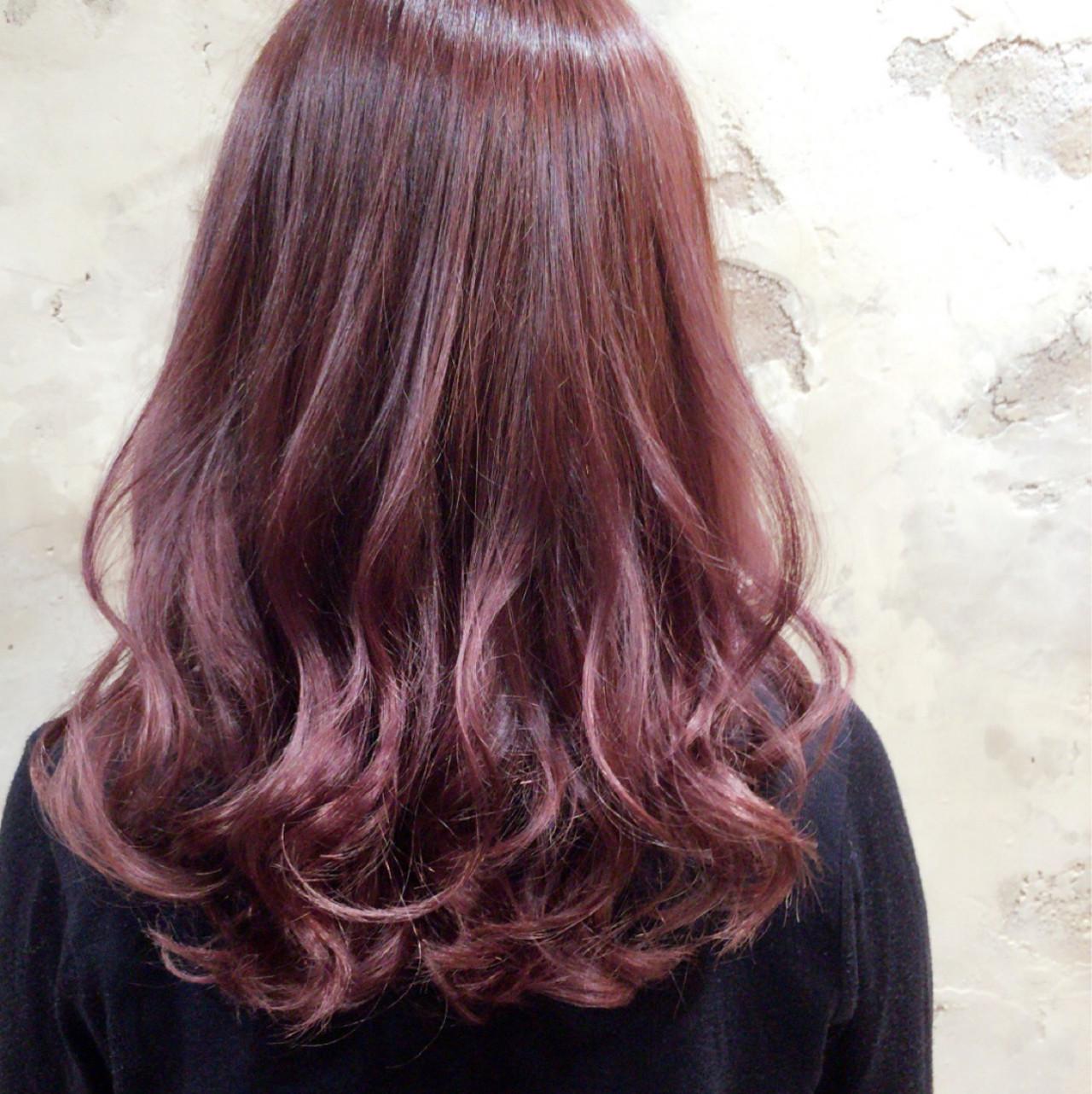 ピンク ロング ストリート ベージュ ヘアスタイルや髪型の写真・画像 | ◆Takumi◆ / Beronica