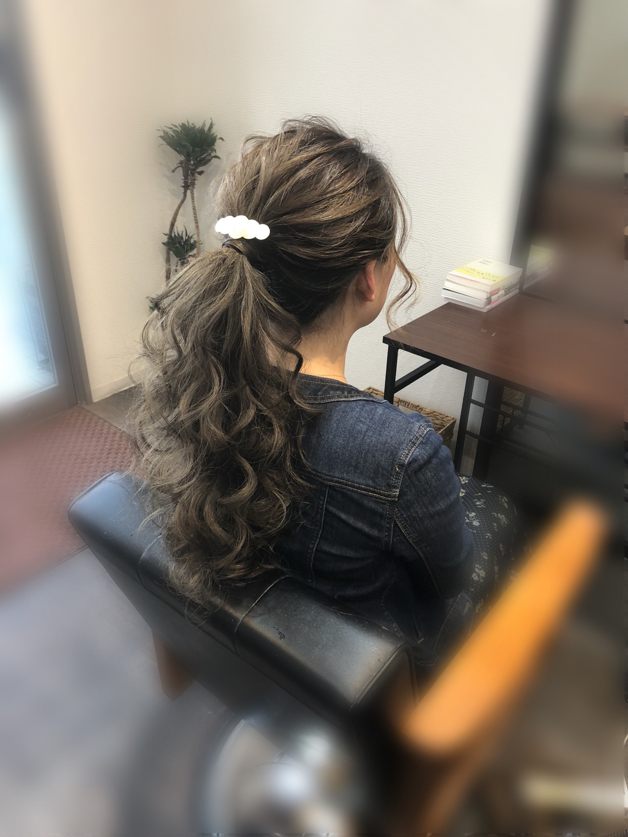 ポニーテール アップスタイル ヘアアレンジ フェミニン ヘアスタイルや髪型の写真・画像 | mai / HAIR SALON STELLA