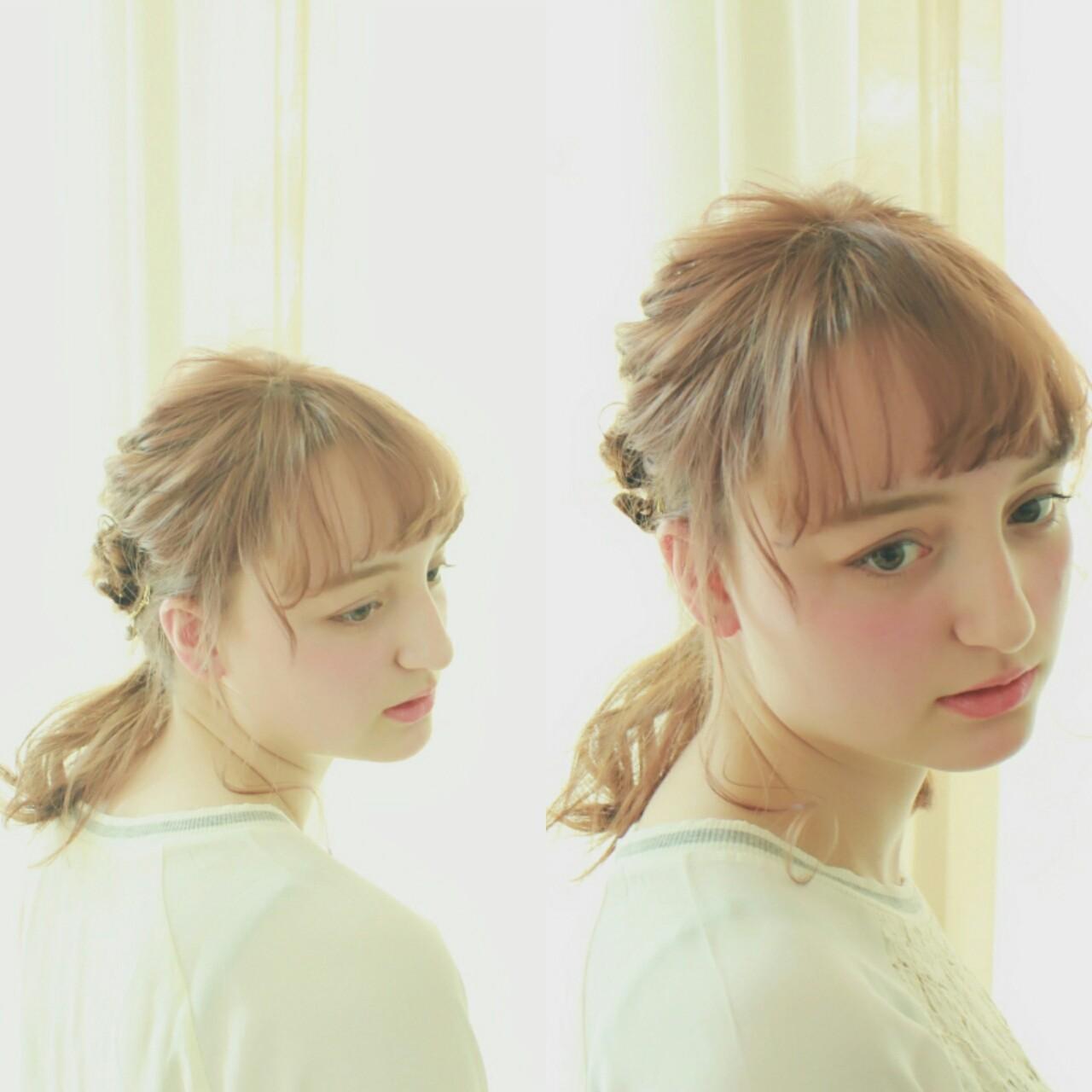 ワイドバング ピュア 簡単ヘアアレンジ ミディアム ヘアスタイルや髪型の写真・画像 | まりえ / 花やの前の美容室