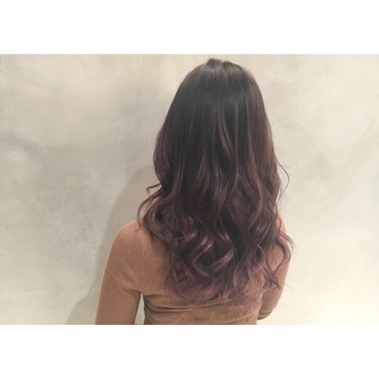 バレイヤージュ ハイライト エレガント 上品ヘアスタイルや髪型の写真・画像