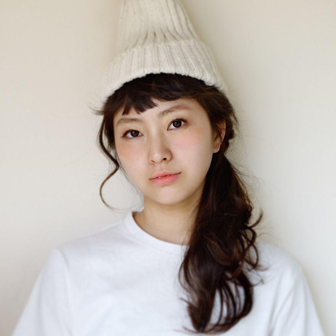 ニット帽×ヘアアレの合わせ技*オシャレ女子に私はなる。 武田光平