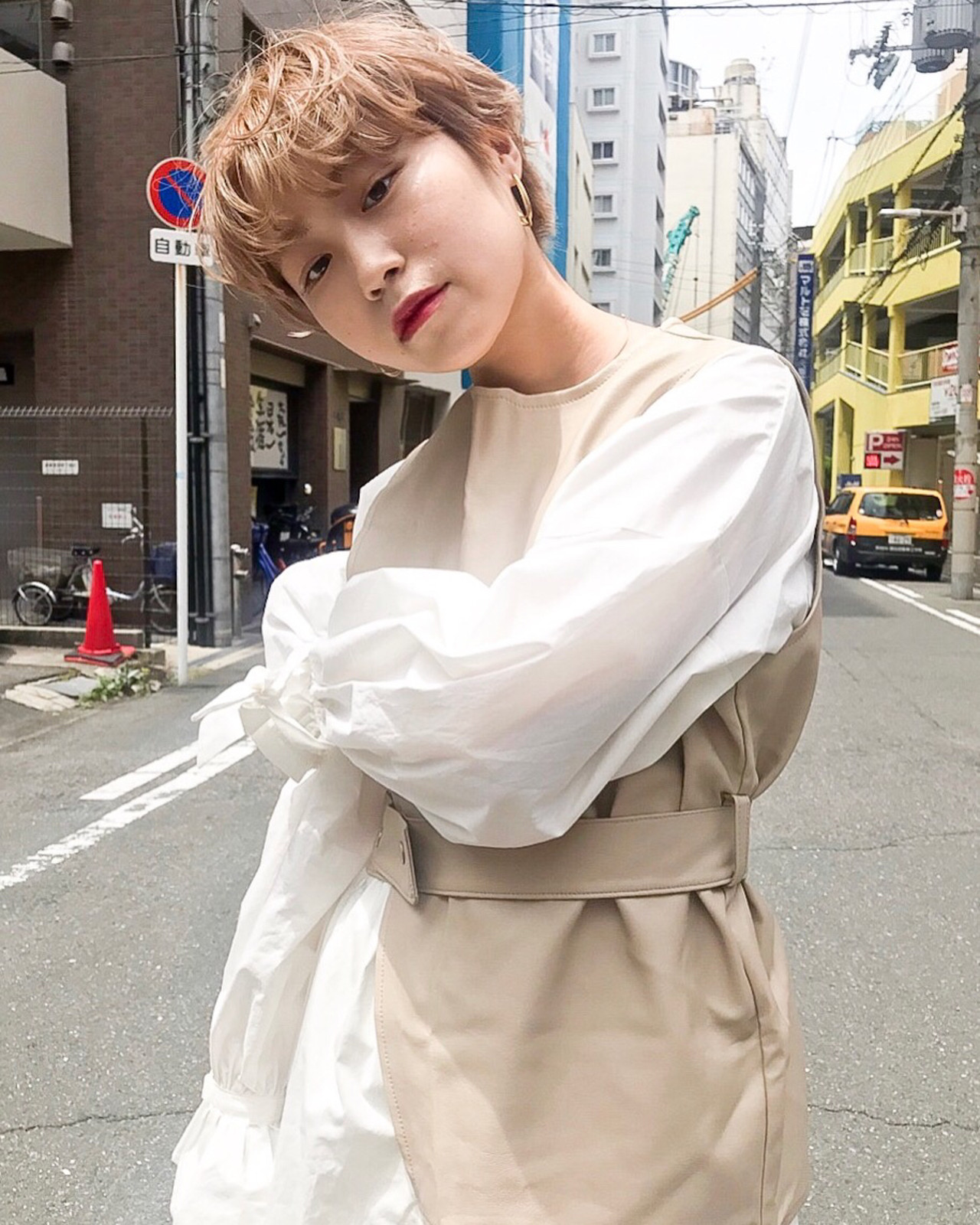 ショート 透明感カラー カジュアル 外国人風カラー ヘアスタイルや髪型の写真・画像 | yoshiki / chainon 梅田店