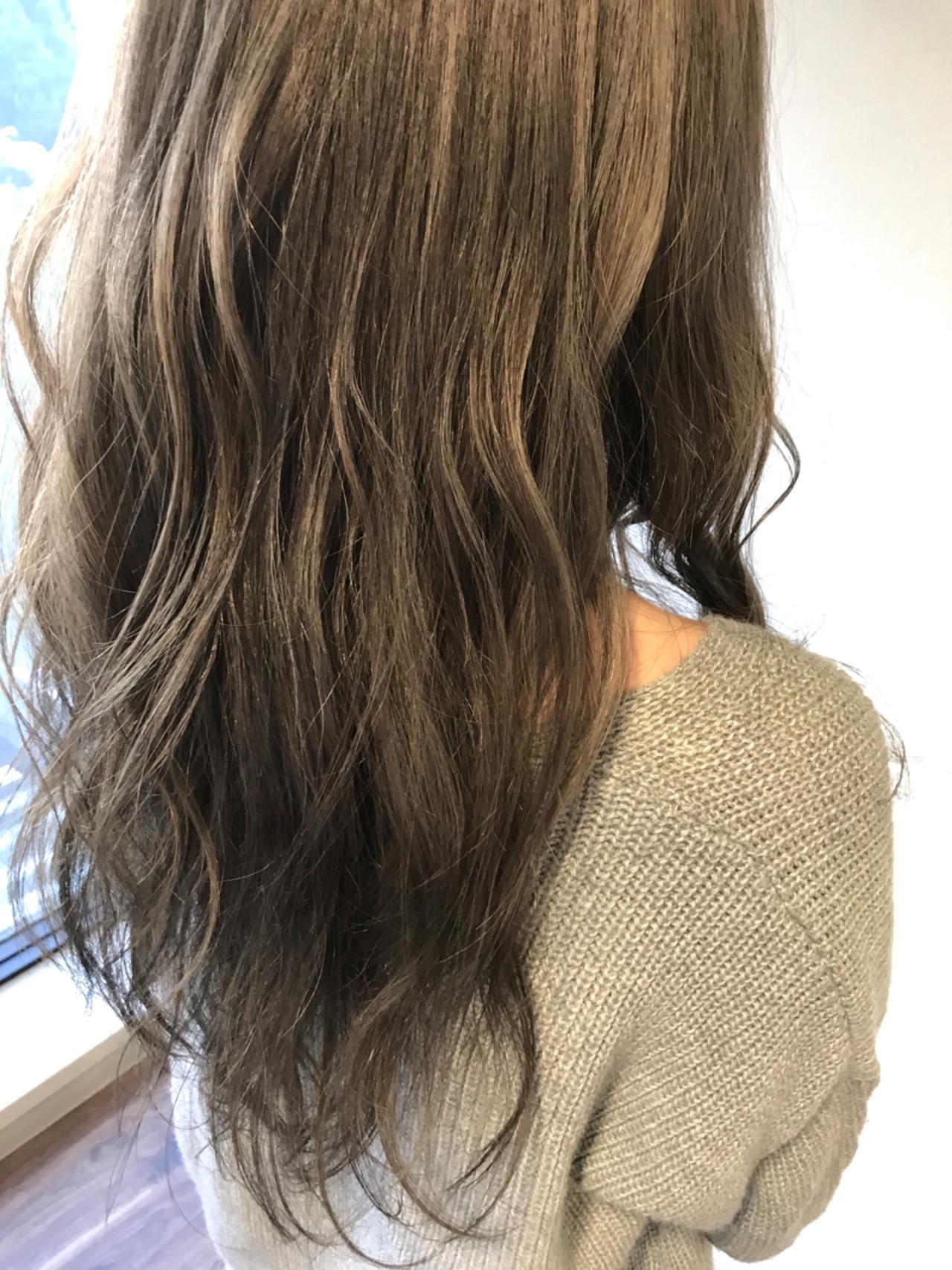 外国人風 ウェーブ ロング 大人女子ヘアスタイルや髪型の写真・画像
