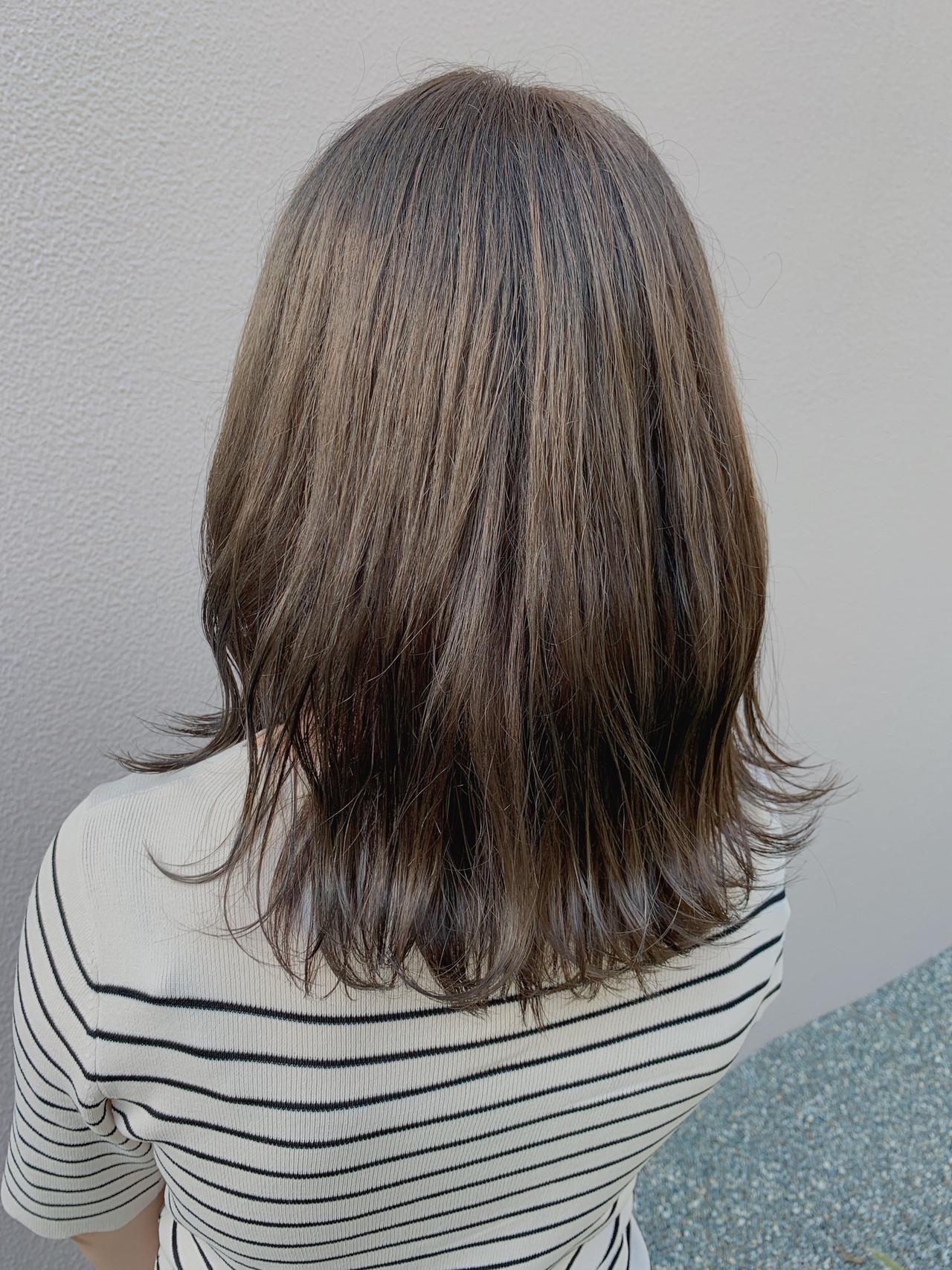 ミルクティー ベージュ ナチュラル ミルクティーベージュ ヘアスタイルや髪型の写真・画像 | 中林宗一朗 / linda by neolive
