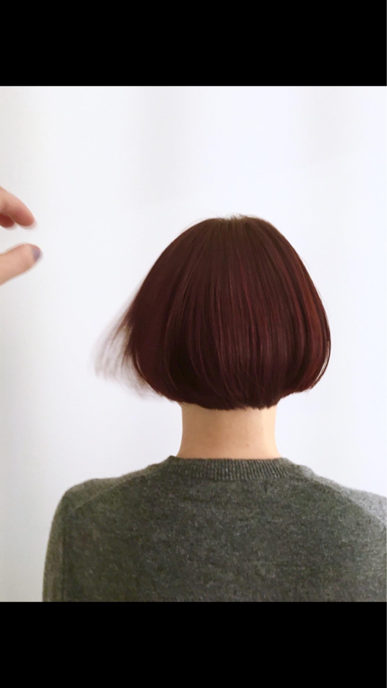 ニュアンス 前髪あり モード ブラントカット ヘアスタイルや髪型の写真・画像   Sachiko Handa / assort