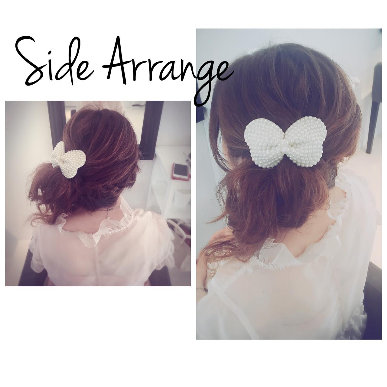 ゆるふわ ガーリー 大人かわいい ヘアアレンジ ヘアスタイルや髪型の写真・画像   *hamai* / フリー