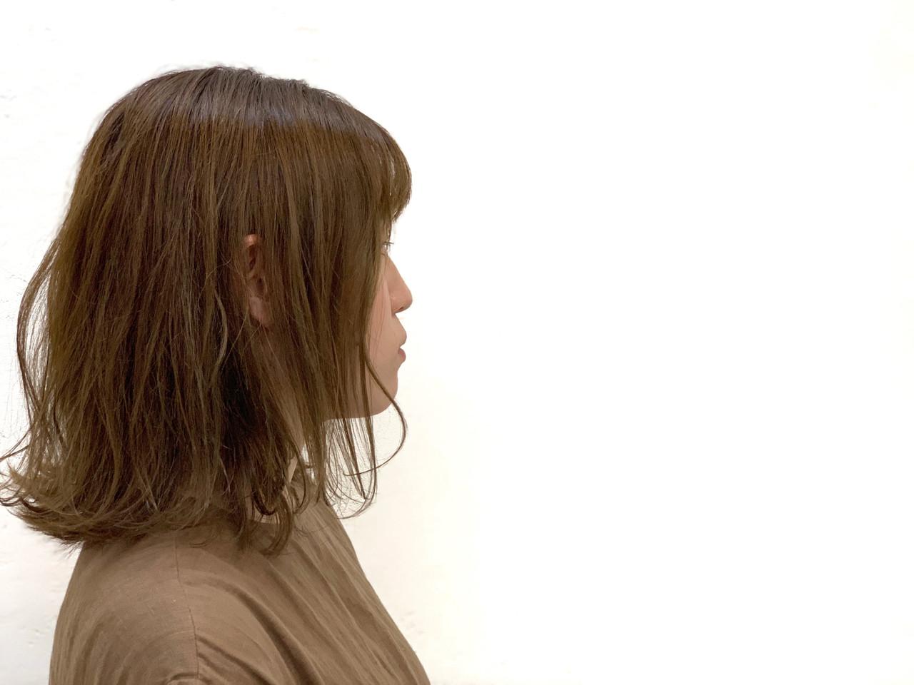 ナチュラル ミルクティーベージュ ボブ ハイライト ヘアスタイルや髪型の写真・画像 | 富山 美容師 朝岡 佑介 / HUE【ヒュー】