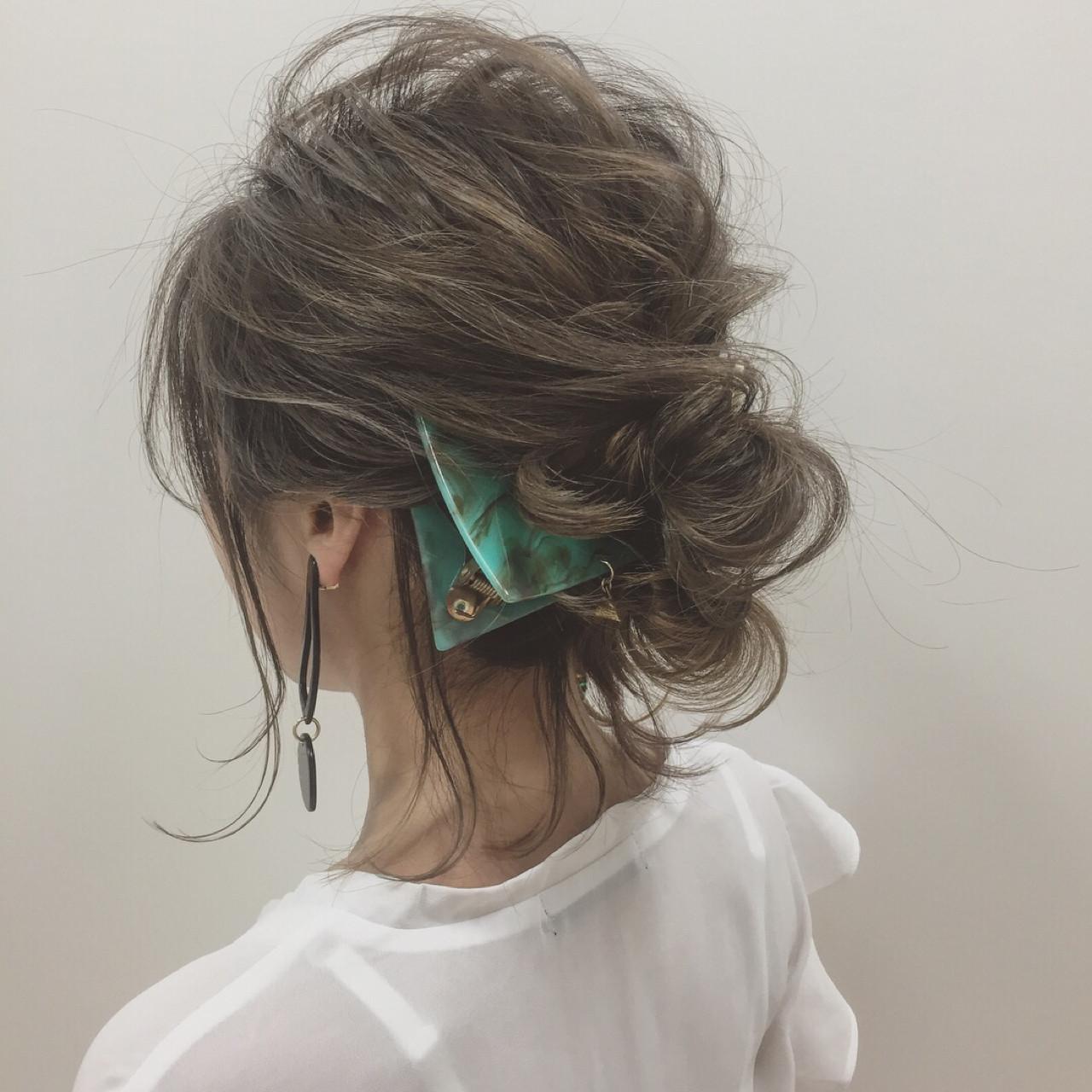リラックス 大人女子 ヘアアレンジ 透明感ヘアスタイルや髪型の写真・画像