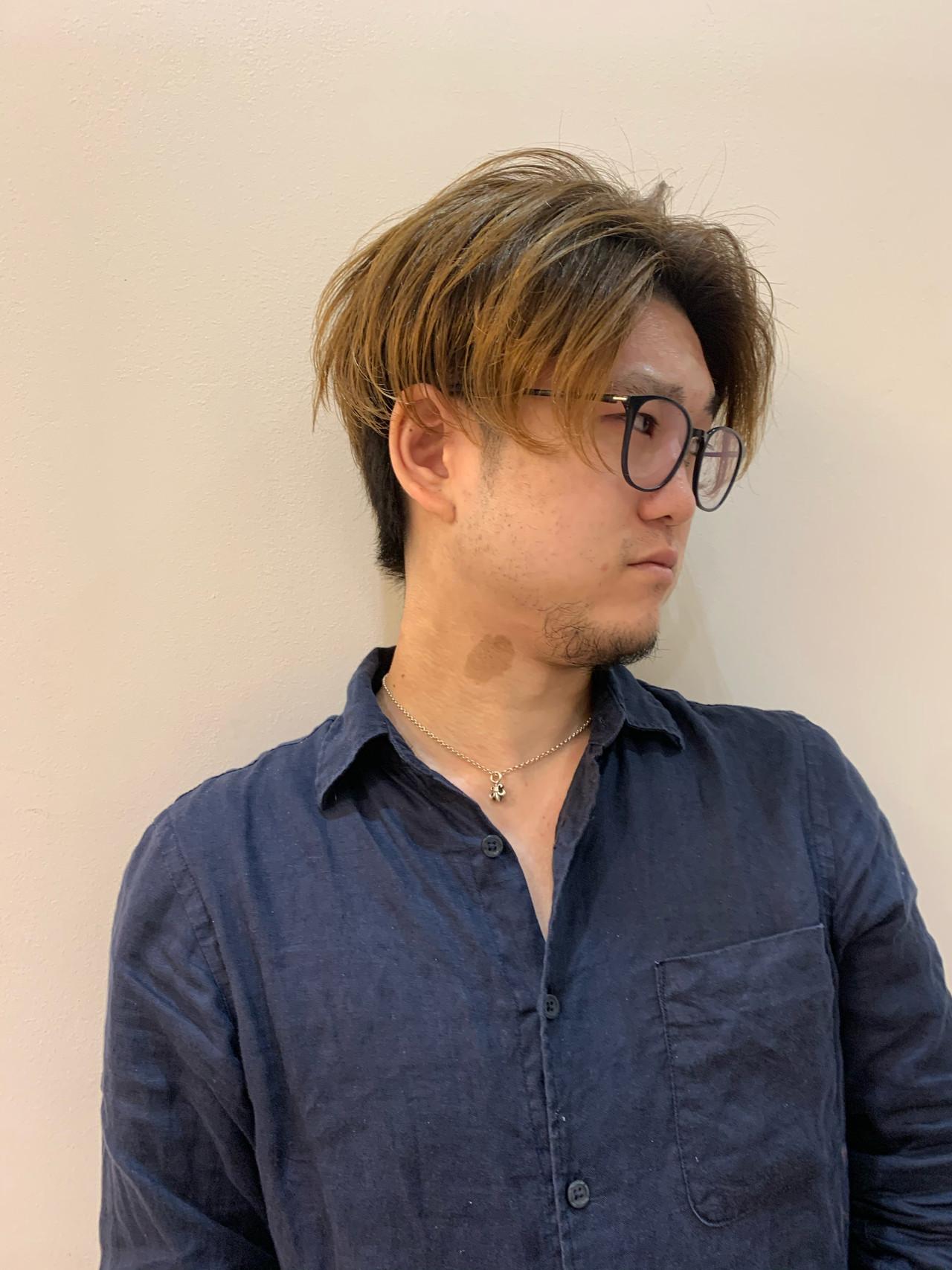 グラデーションカラー ストリート メンズカット メンズショート ヘアスタイルや髪型の写真・画像   飯島 直彬 / SEES HAIR