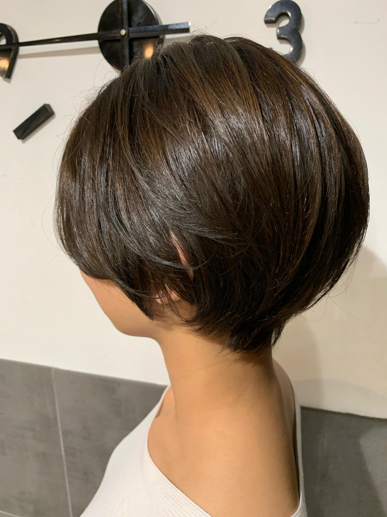 ショートヘア ハンサムショート ナチュラル ショートボブ ヘアスタイルや髪型の写真・画像 | オカモト ナツキ/ショートヘア / Neolive susu