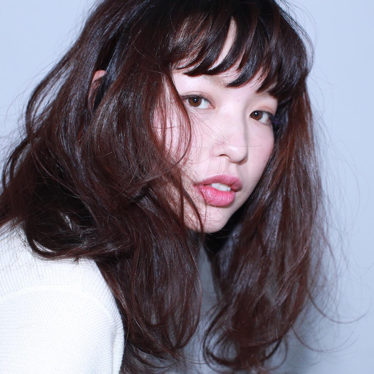 ブラウン ナチュラル セミロング 黒髪 ヘアスタイルや髪型の写真・画像 | イマムラ スナオ / LUKE