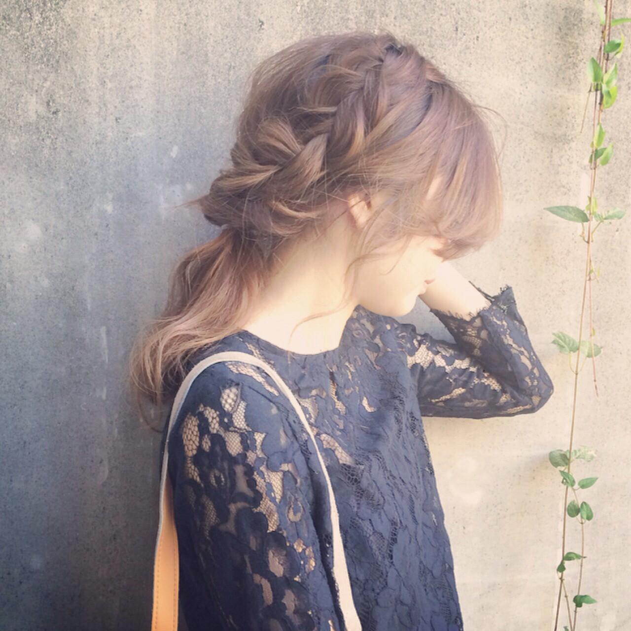 セミロング アッシュ 外国人風 外国人風カラーヘアスタイルや髪型の写真・画像