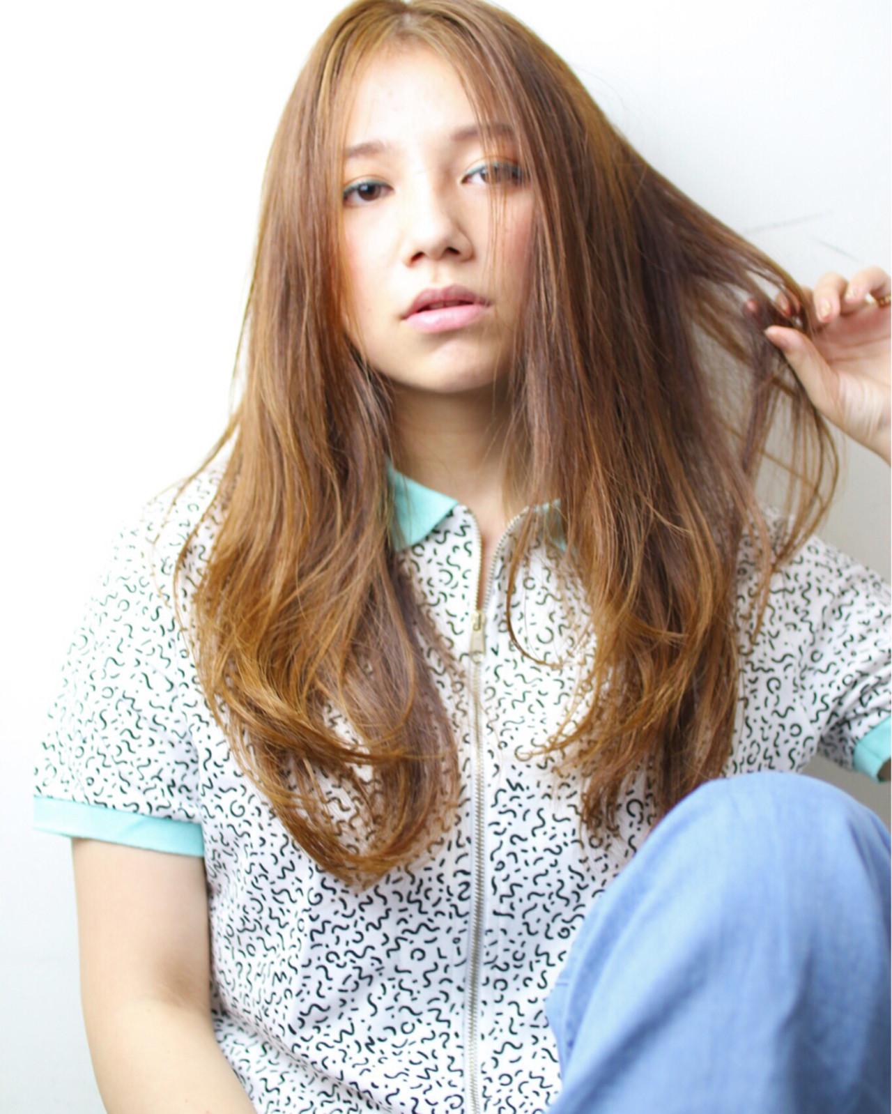 パーマ ピュア 大人かわいい ロング ヘアスタイルや髪型の写真・画像   亀山 直紀 / Ash 二子玉川