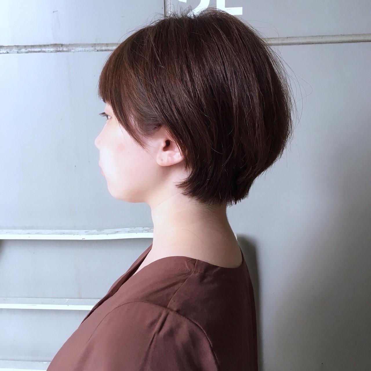 ショート ショートヘア マッシュショート ナチュラル ヘアスタイルや髪型の写真・画像 | Yumi Hiramatsu / Sourire Imaizumi【スーリール イマイズミ】