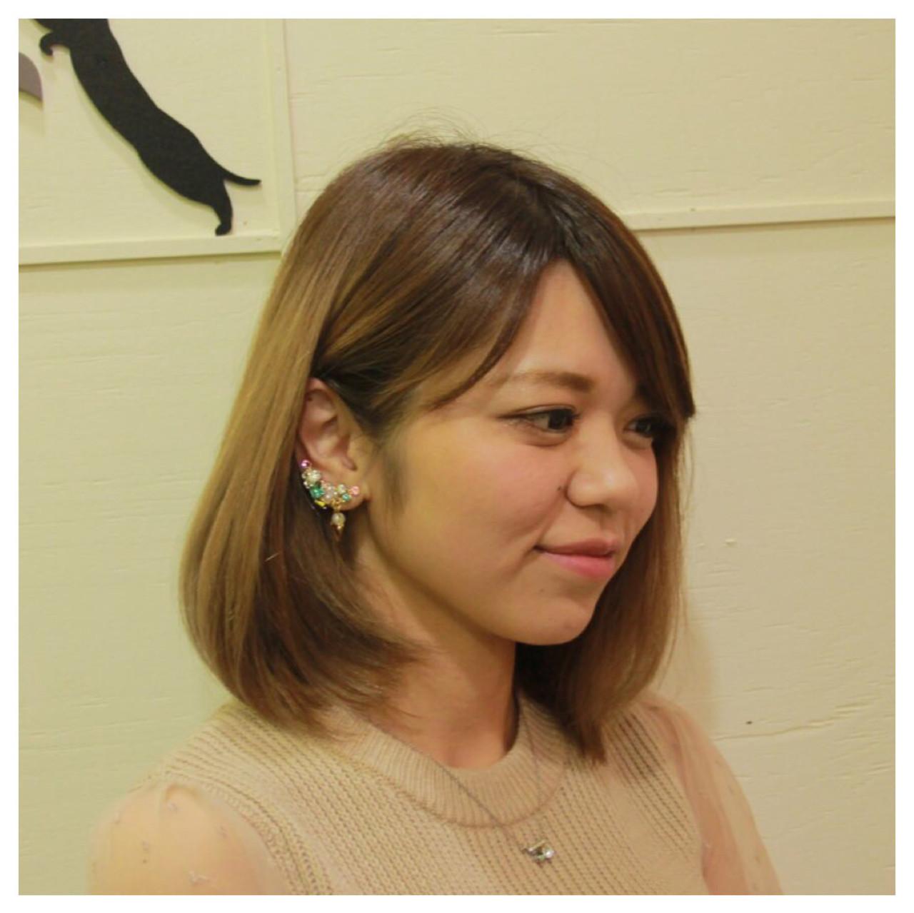 透明感 ロブ グラデーションカラー グレージュ ヘアスタイルや髪型の写真・画像 | 伊藤章士 / hair&make Truth