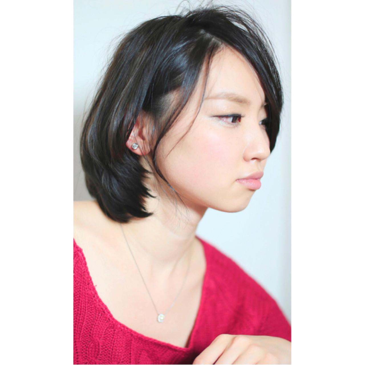 ショート ナチュラル 大人かわいい ショートボブ ヘアスタイルや髪型の写真・画像 | 渡辺拓吏【NUM】 / hair salon NUM