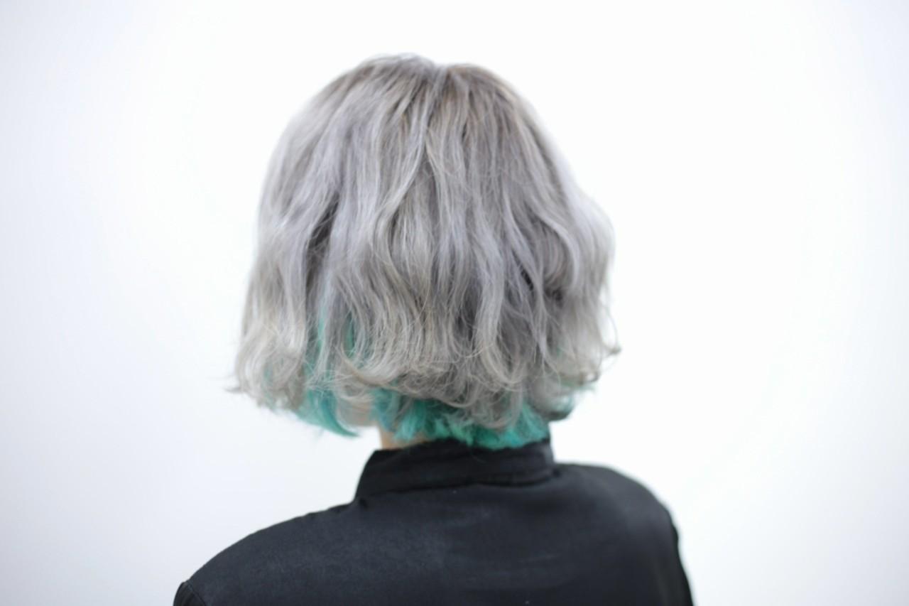ハイトーン ストリート ブリーチ インナーカラー ヘアスタイルや髪型の写真・画像 | kanata / CLLN hair design