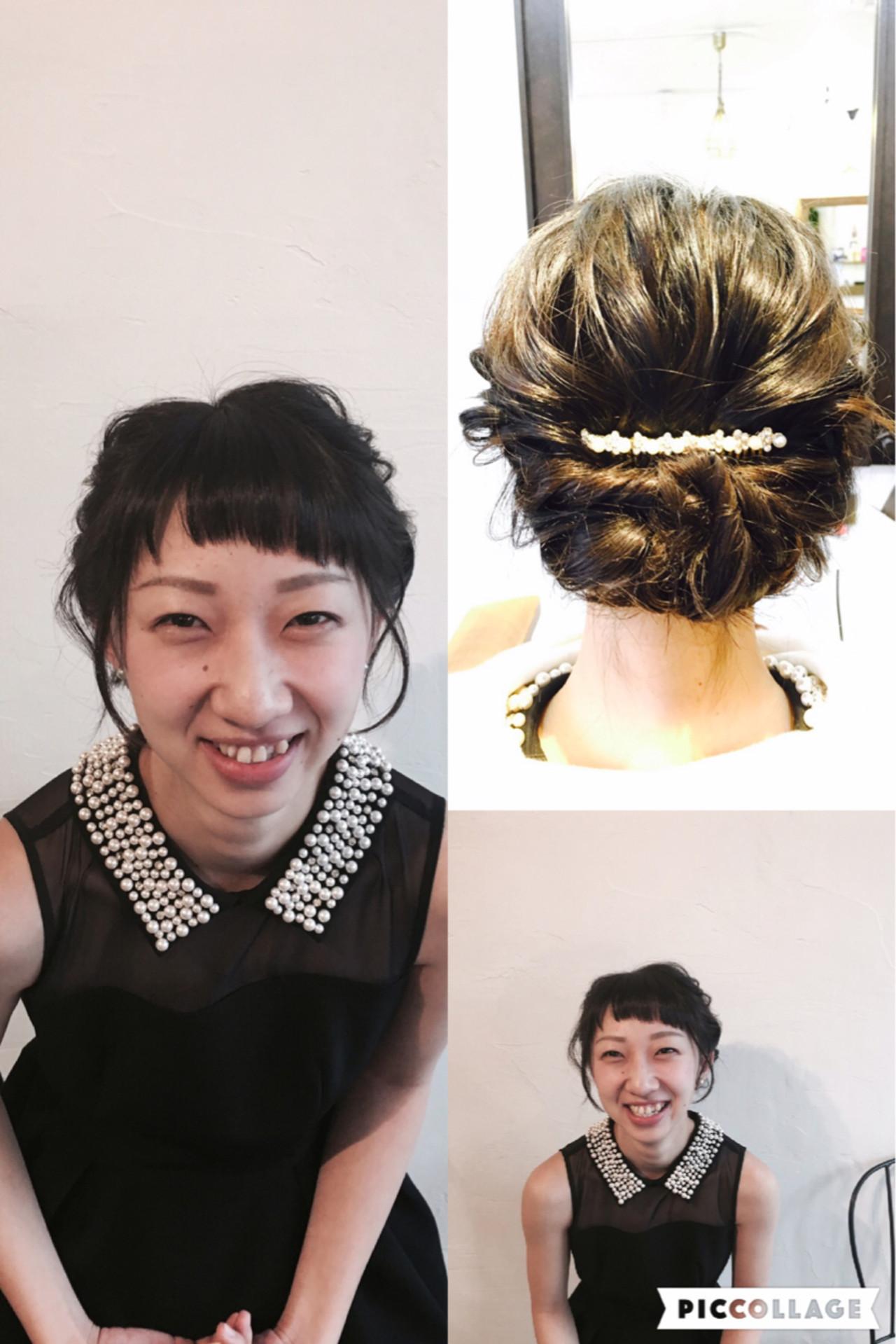 愛され 簡単ヘアアレンジ 結婚式 前髪あり ヘアスタイルや髪型の写真・画像 | Shinya Morikawa / gnome