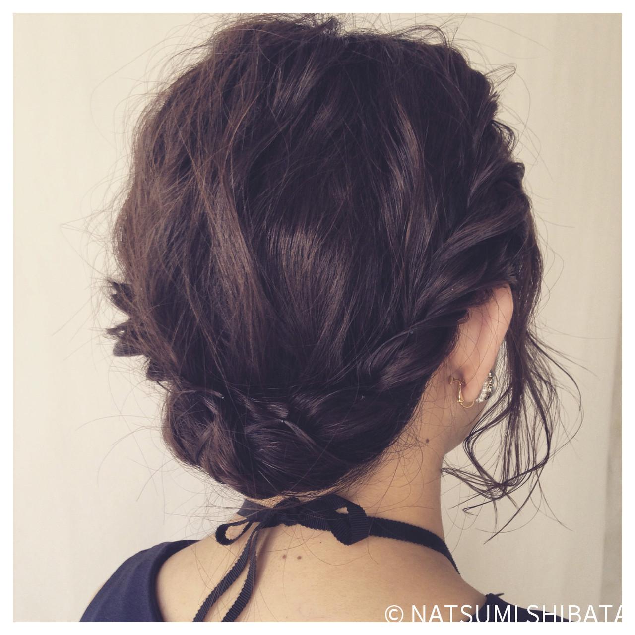 ヘアアレンジ ギブソンタック 簡単ヘアアレンジ パーティ ヘアスタイルや髪型の写真・画像   NATSUMI SHIBATA / ALBUM